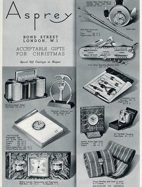 An Old Asprey Ad Showing a Selection of Objects in Our Favourite Horological Objects for A Collected Man London