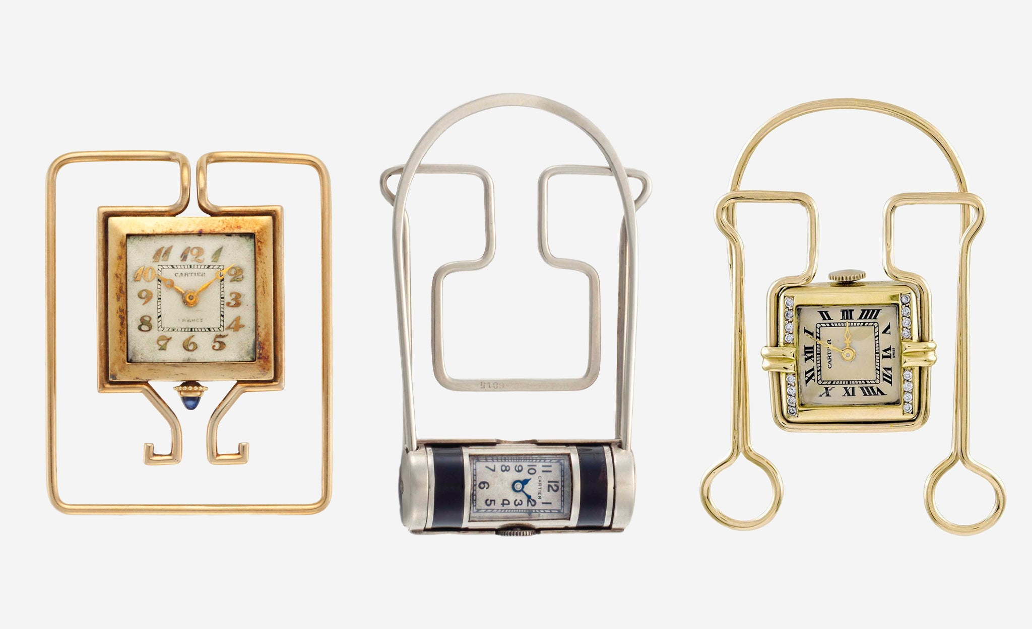 Different shapes of Money Clips in Our Favourite Horological Objects for A Collected Man London