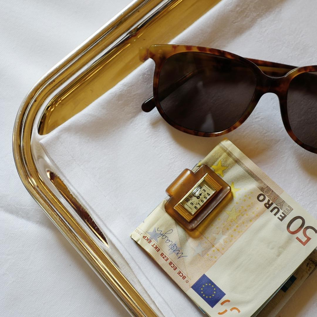 A Horn Money Clip and Sunglasses in Our Favourite Horological Objects for A Collected Man London
