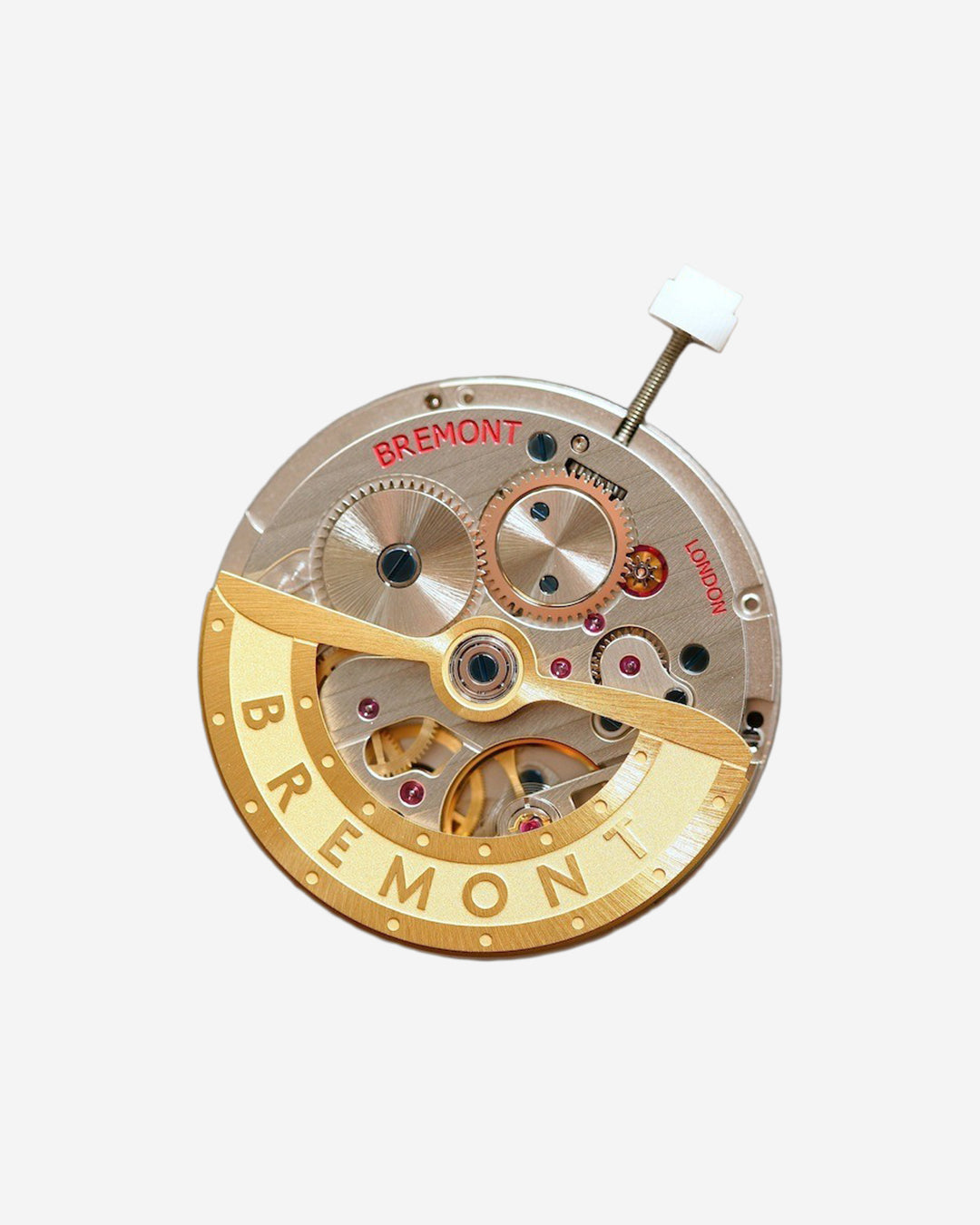 Bremont watch movement on grey background in In-house or ébauche, and does it even matter anymore? For A Collected Man London