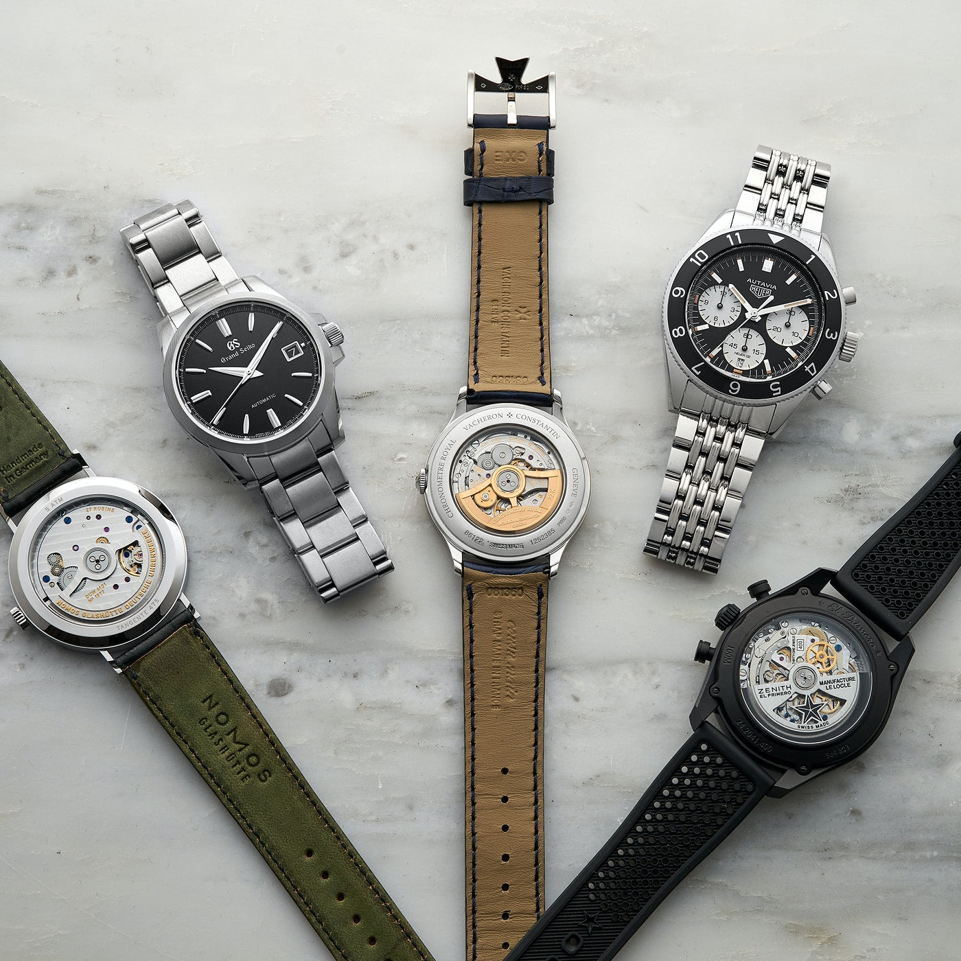 Five in-house watch movements in In-house or ébauche, and does it even matter anymore? For A Collected Man London