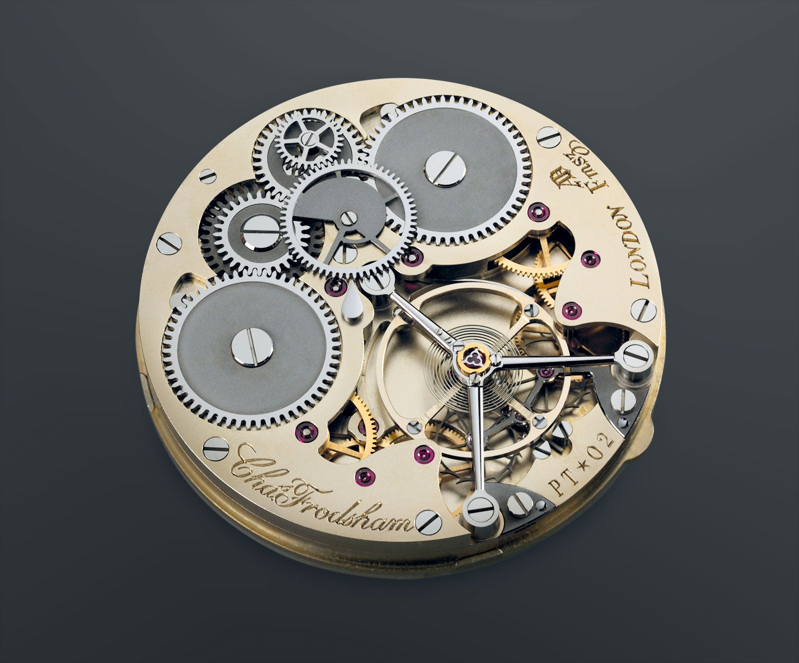 The movement of the Frodsham Double Impulse Chronometer for A Collected Man London