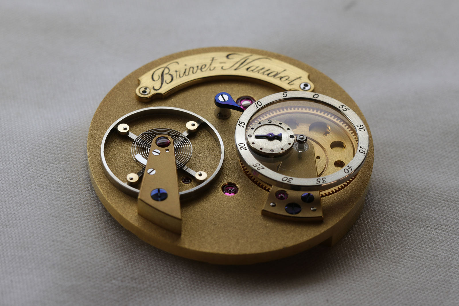 The movement of Cyril Brivet-Naudot wristwatch for A Collected Man London