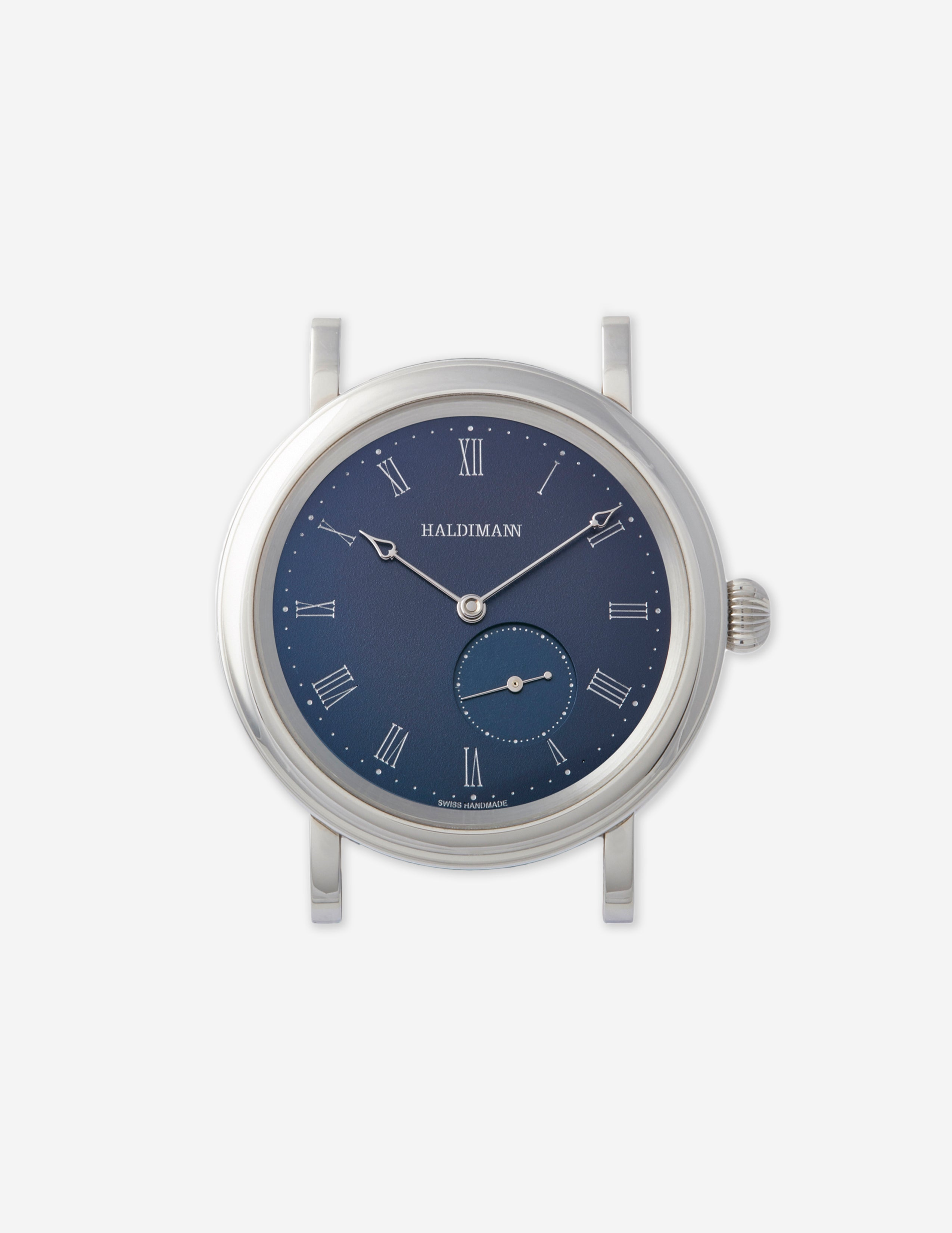 A Haldimann H12 wristwatch with a blue dial for A Collected Man London