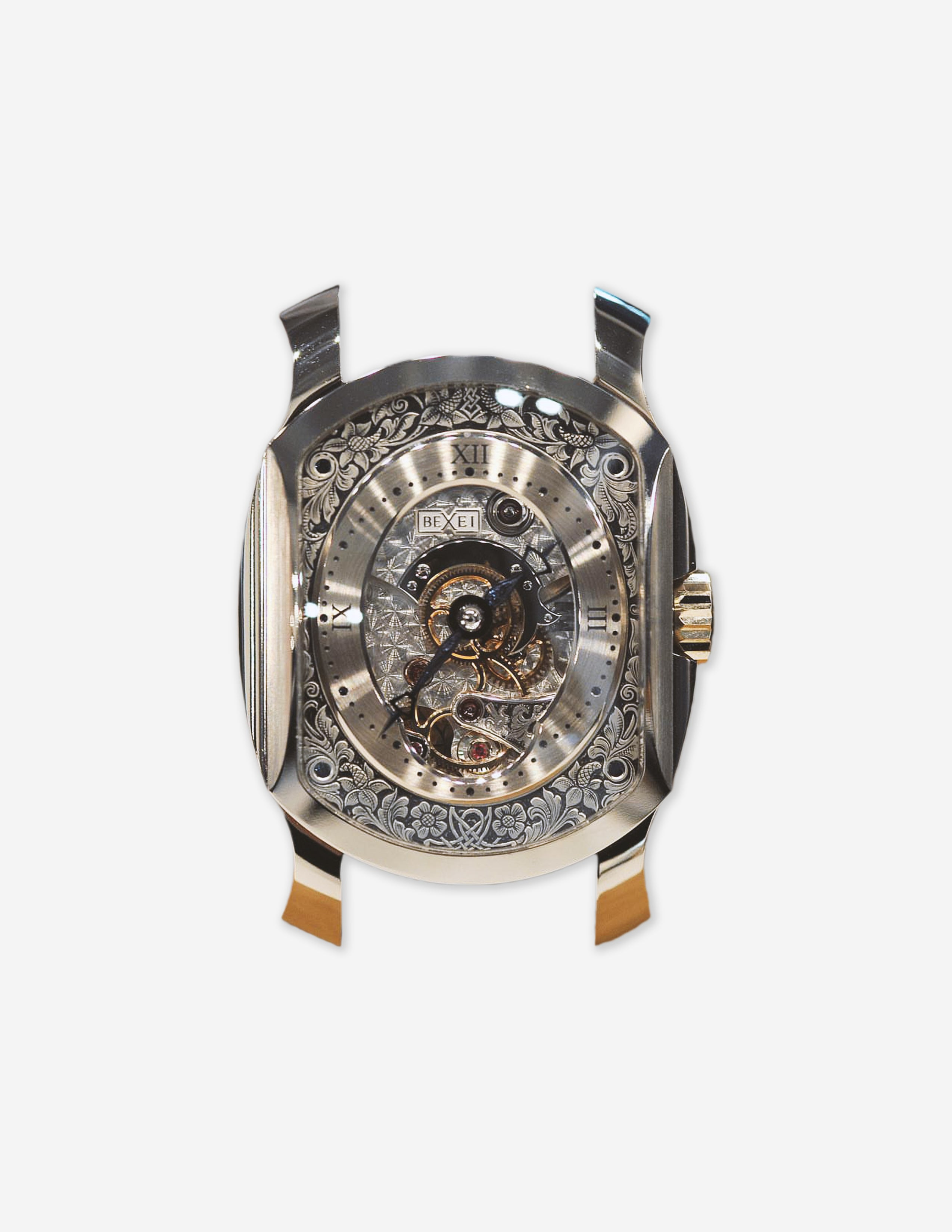 A Bexei Dignitas wristwatch with an engraved dial for A Collected Man London