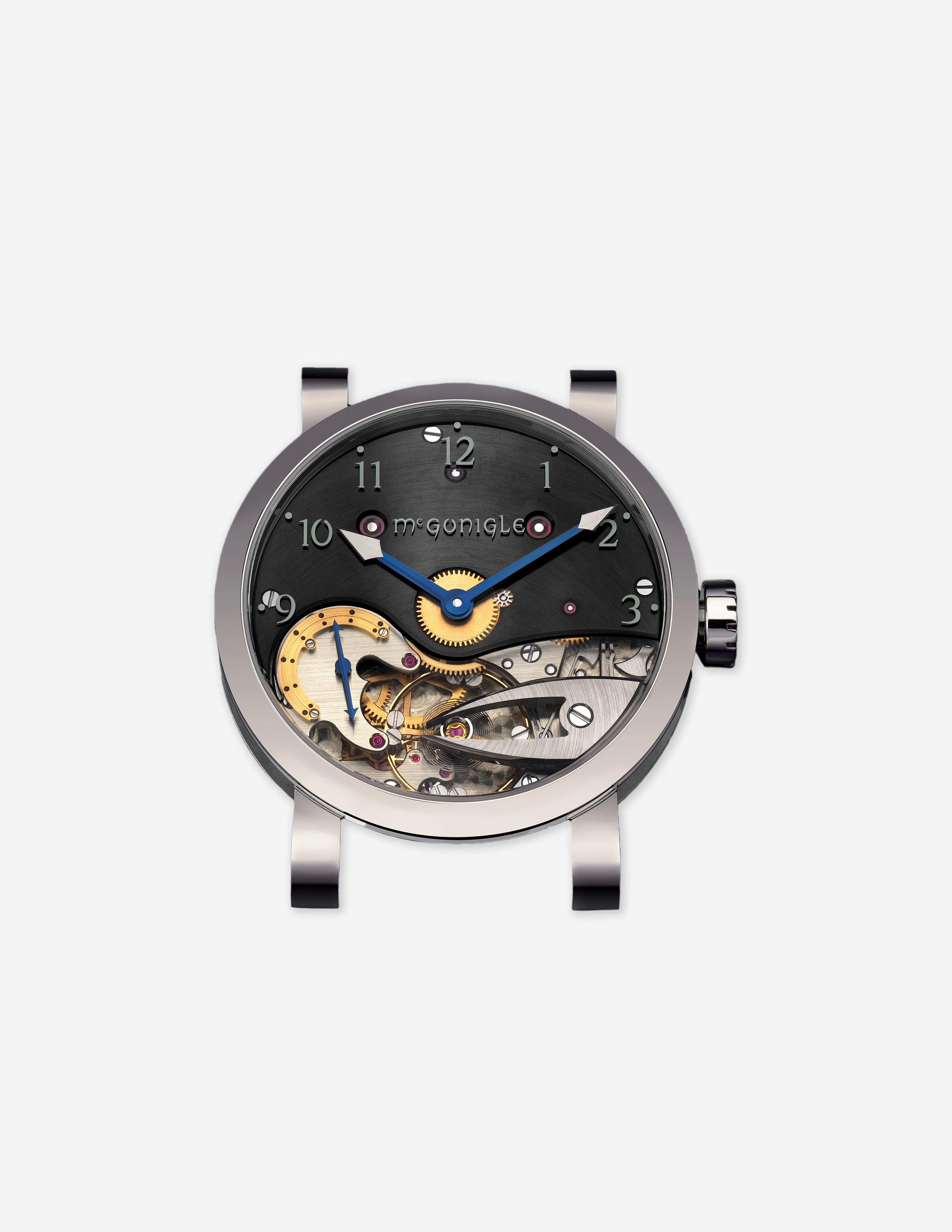 A McGonigle Tuscar Banu in white gold with a half skeleton dial for A Collected Man London