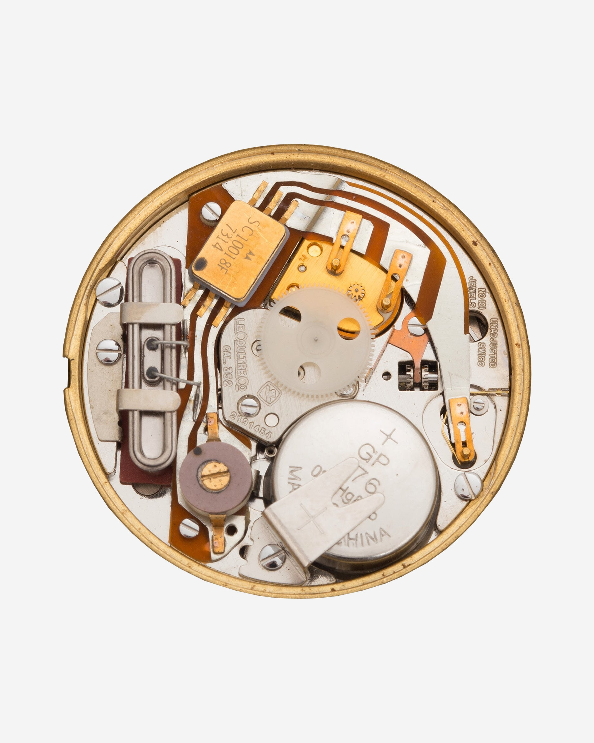 The Jaeger-LeCoultre calibre 352 quartz movement from A Collected Man London