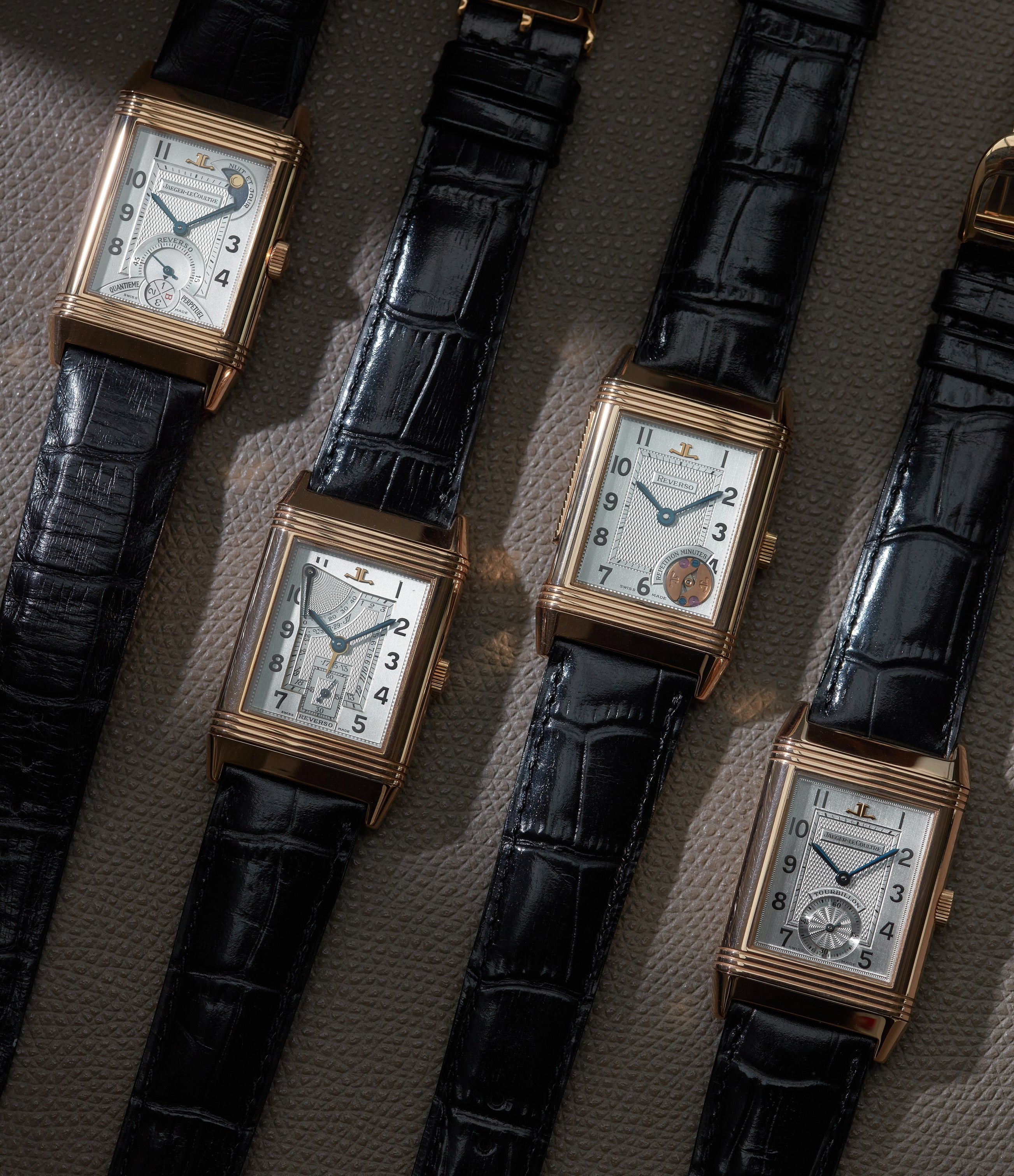 Four limited edition Jaeger-LeCoultre Reversos from the 1990s in The Flippin' History of the Reverso for A Collected Man