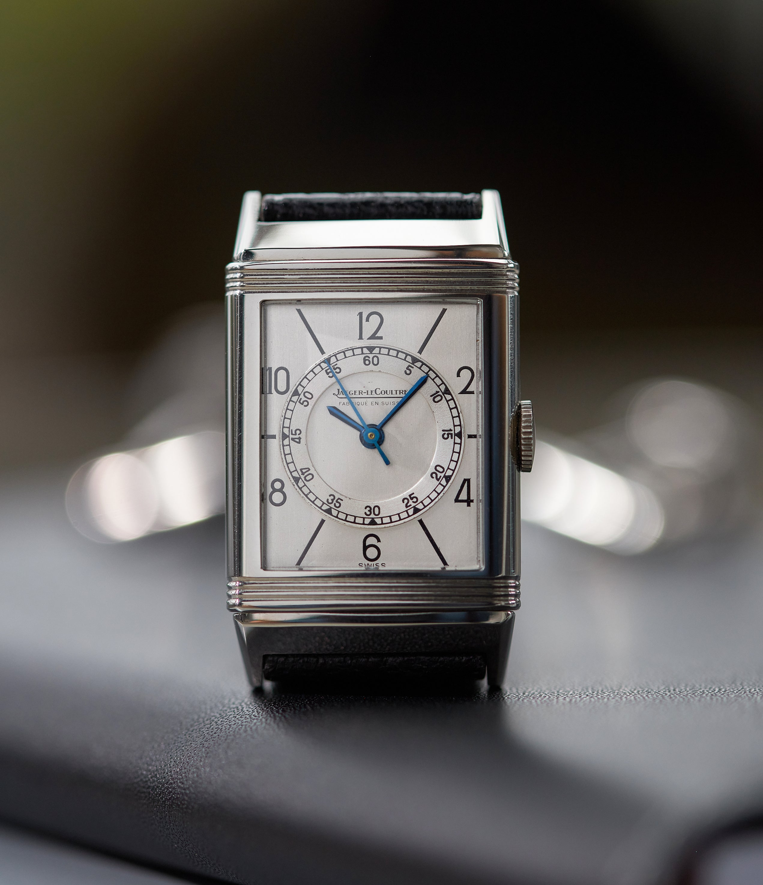 White dial Jaeger-LeCoultre Reverso from 1933 with Order of the Thistle emblem on caseback in The Flippin' History of the Reverso for A Collected Man
