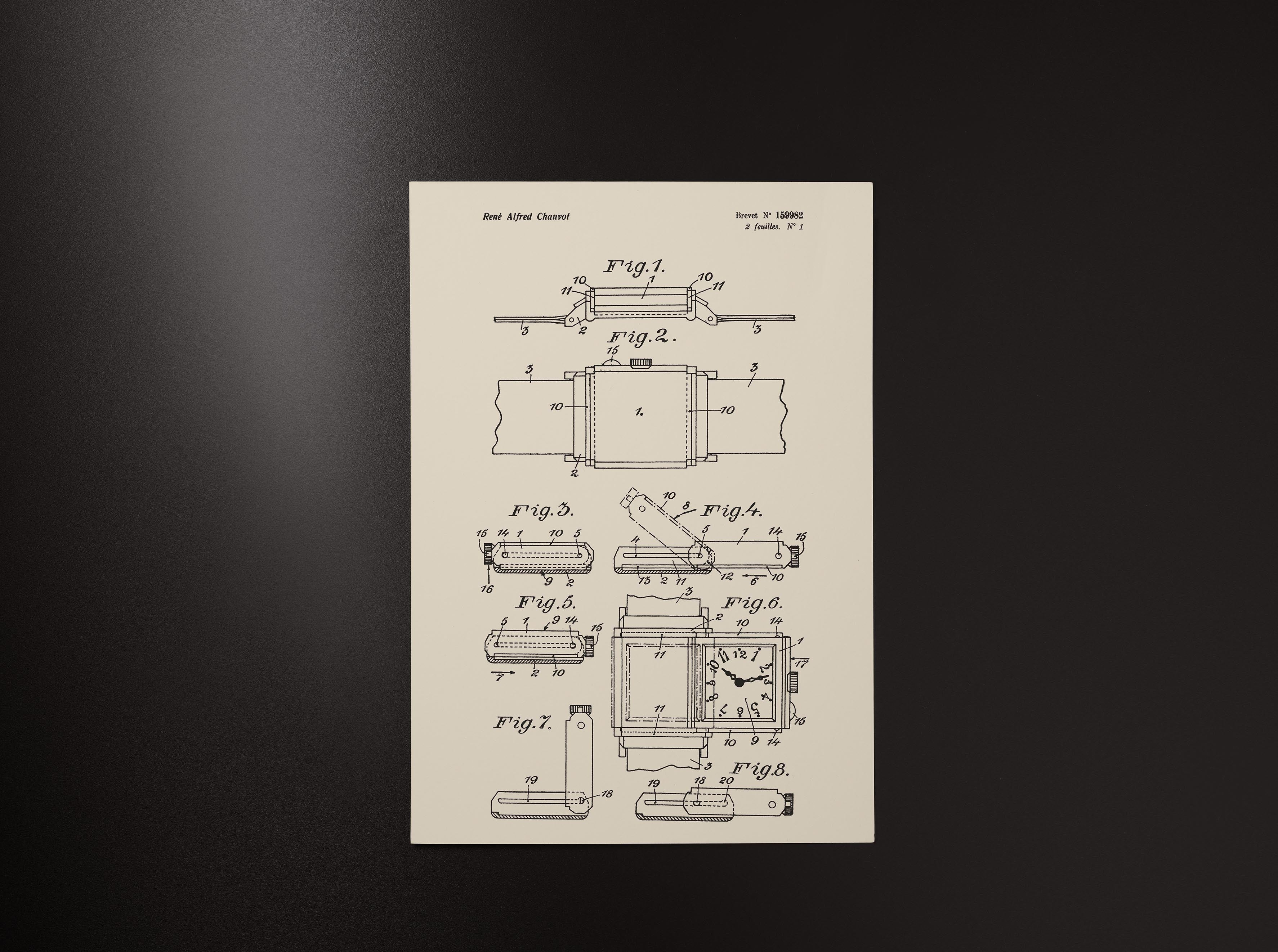 Original patent for Jaeger-LeCoultre Reverso case drawings in The Flippin' History of the Reverso for A Collected Man