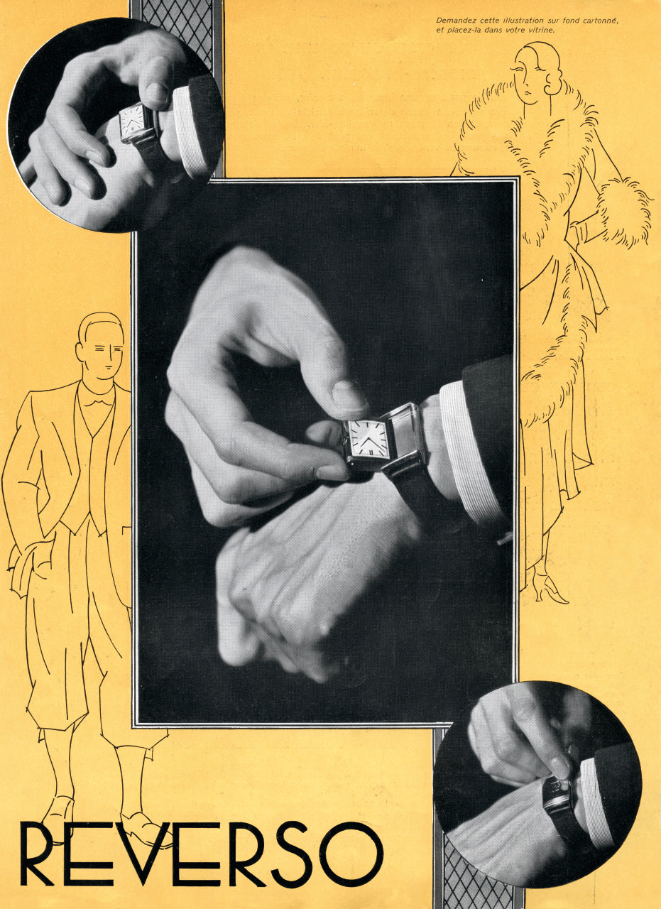 Jaeger-LeCoultre Art Deco Advert from 1932 in The Flippin' History of the Reverso for A Collected Man