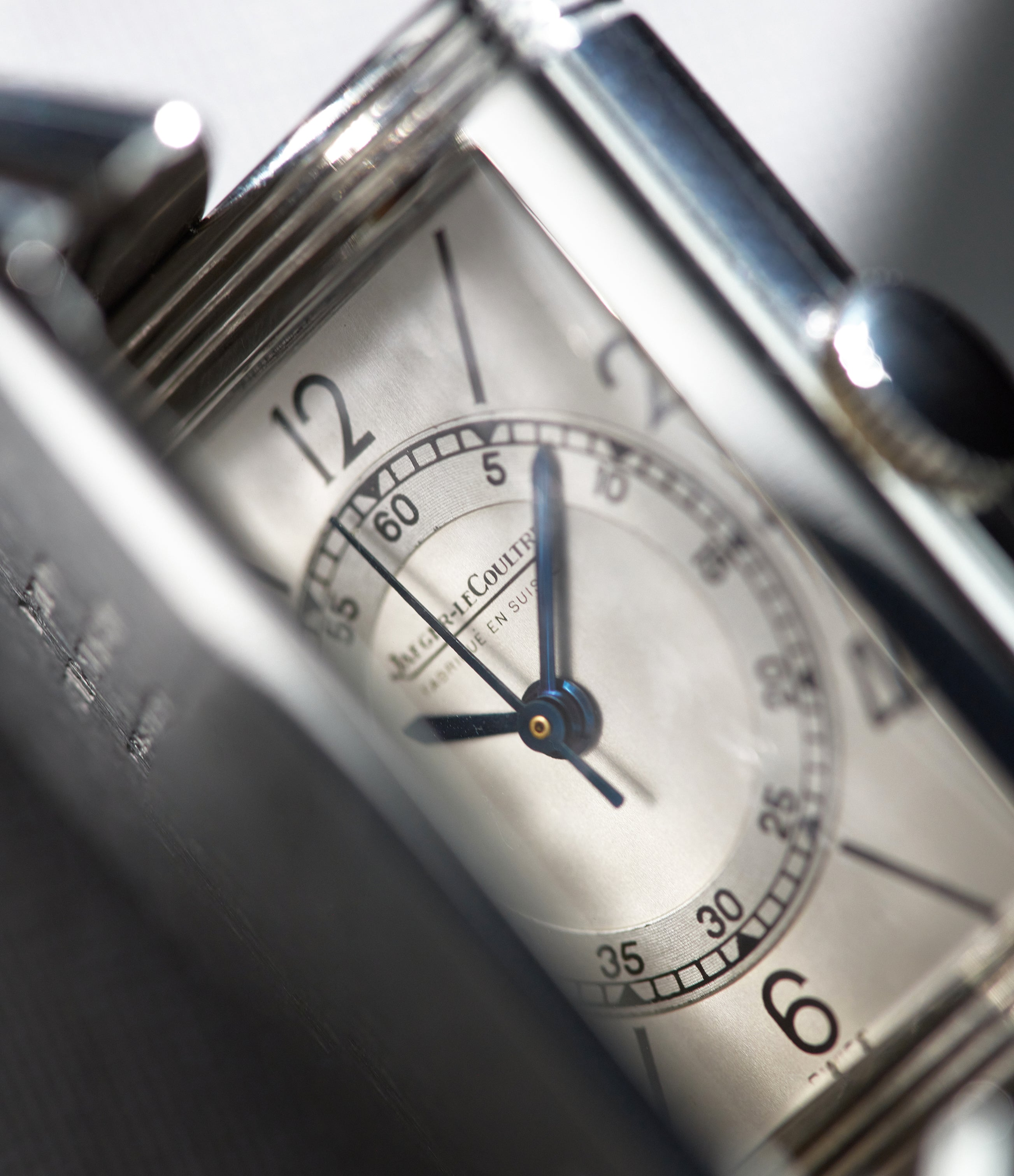 White dial Jaeger-LeCoultre Reverso from 1933 closing in The Flippin' History of the Reverso for A Collected Man