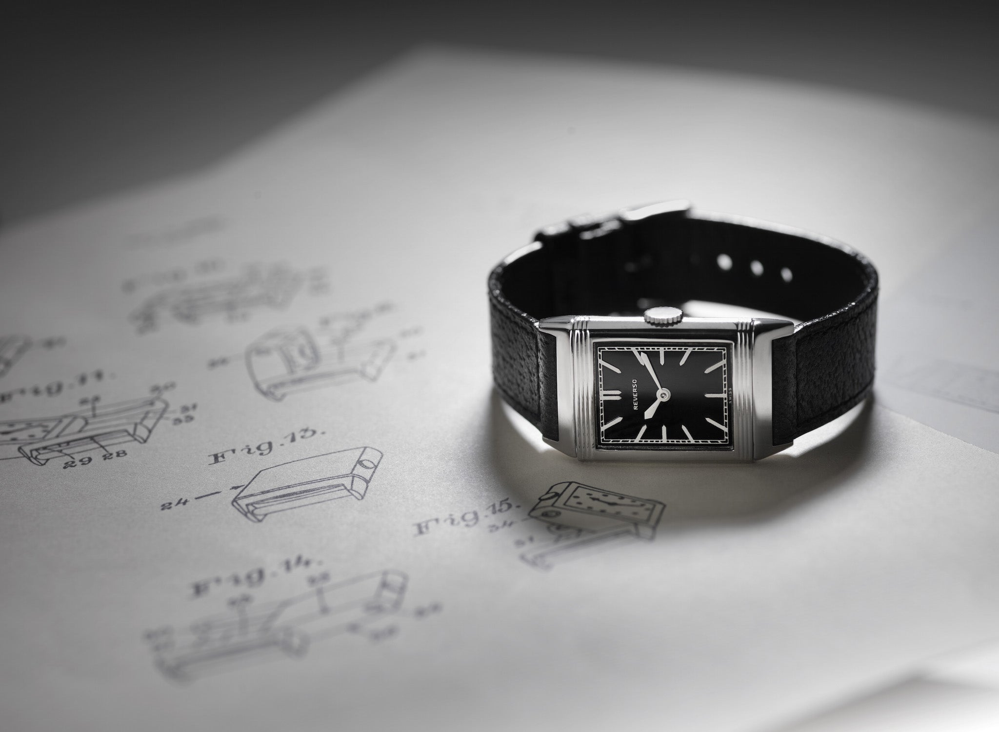 Jaeger-LeCoultre Reverso luxury watch with black dial