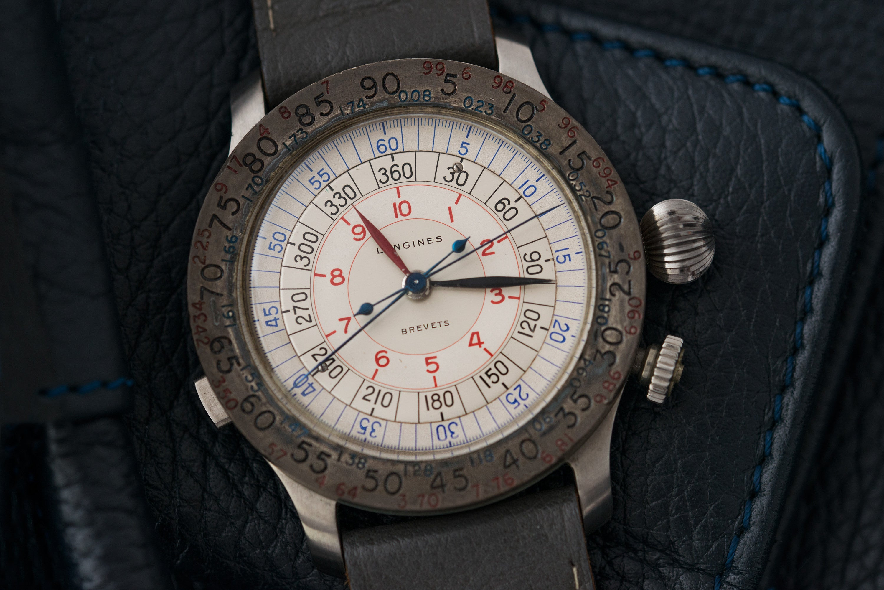 vintage Longines Sideograph chronograph calibre 37.9 at A Collected Man