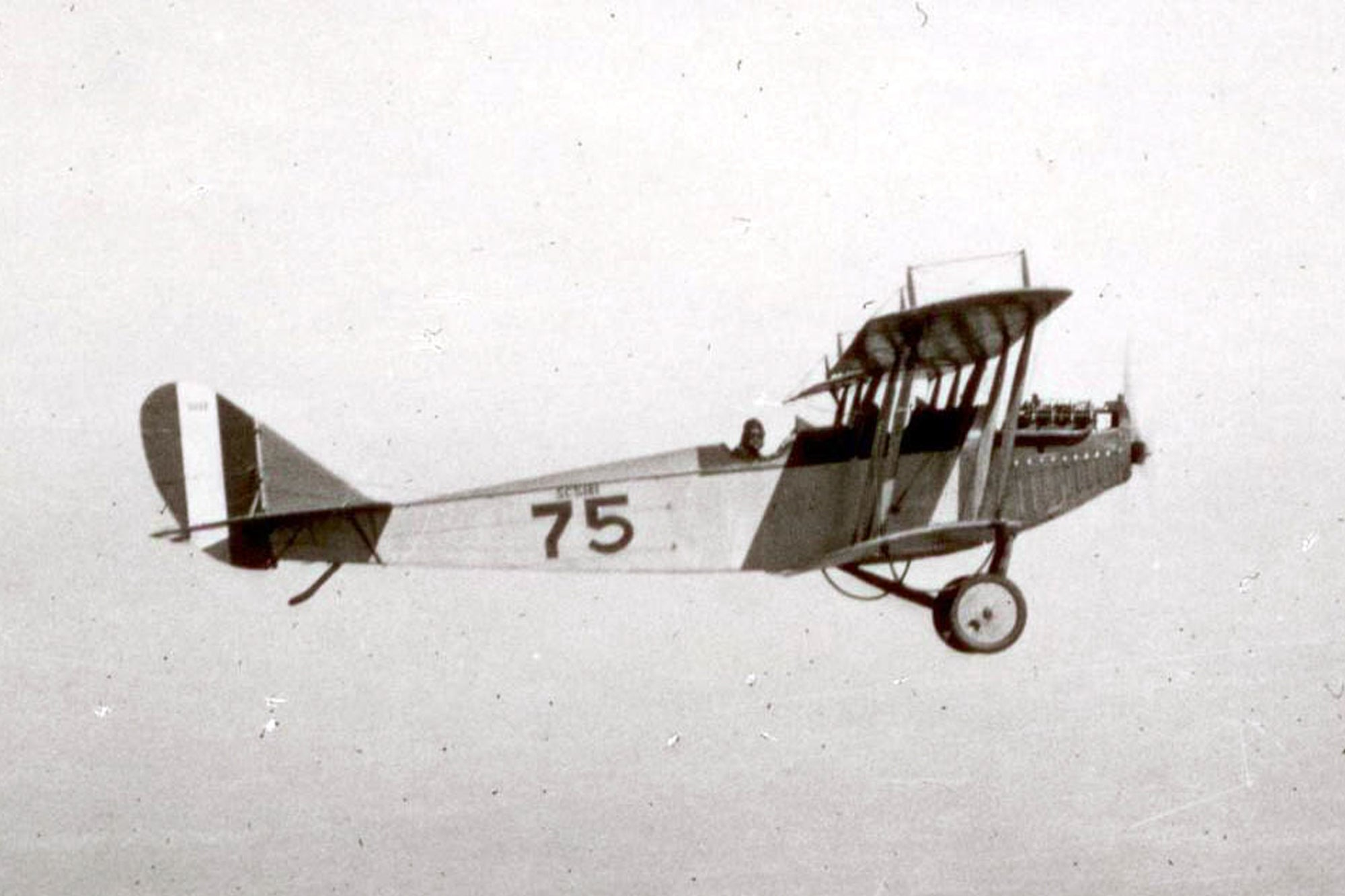 Charles Lindbergh's first plane, a Curtiss JN-4, known as a Jenny