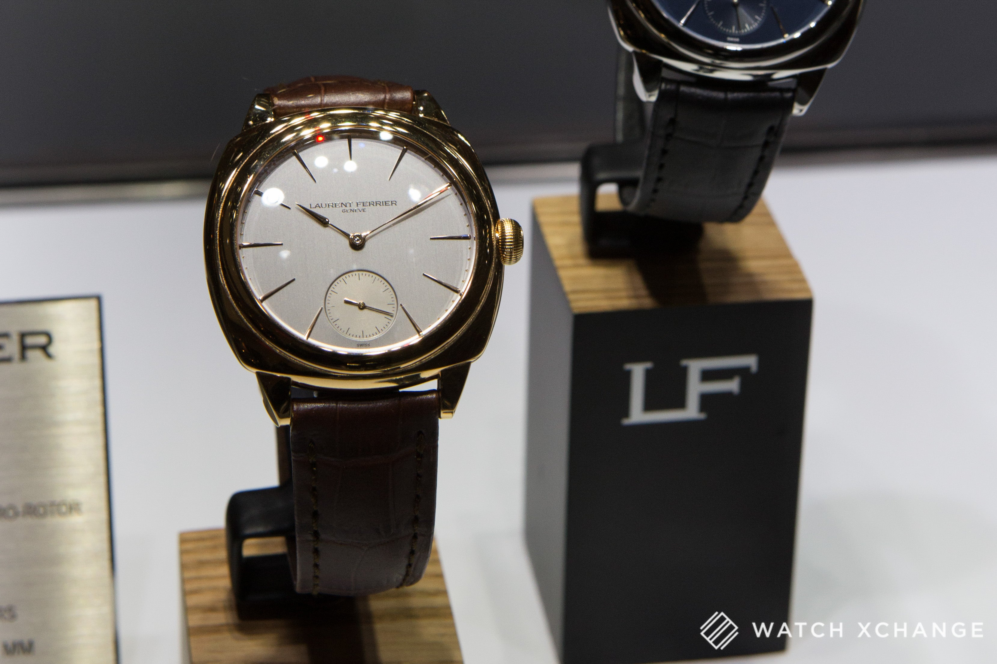 Laurent Ferrier Galet Square with Calibre FBN 229.01 and micro rotor at Salon QP London 2015