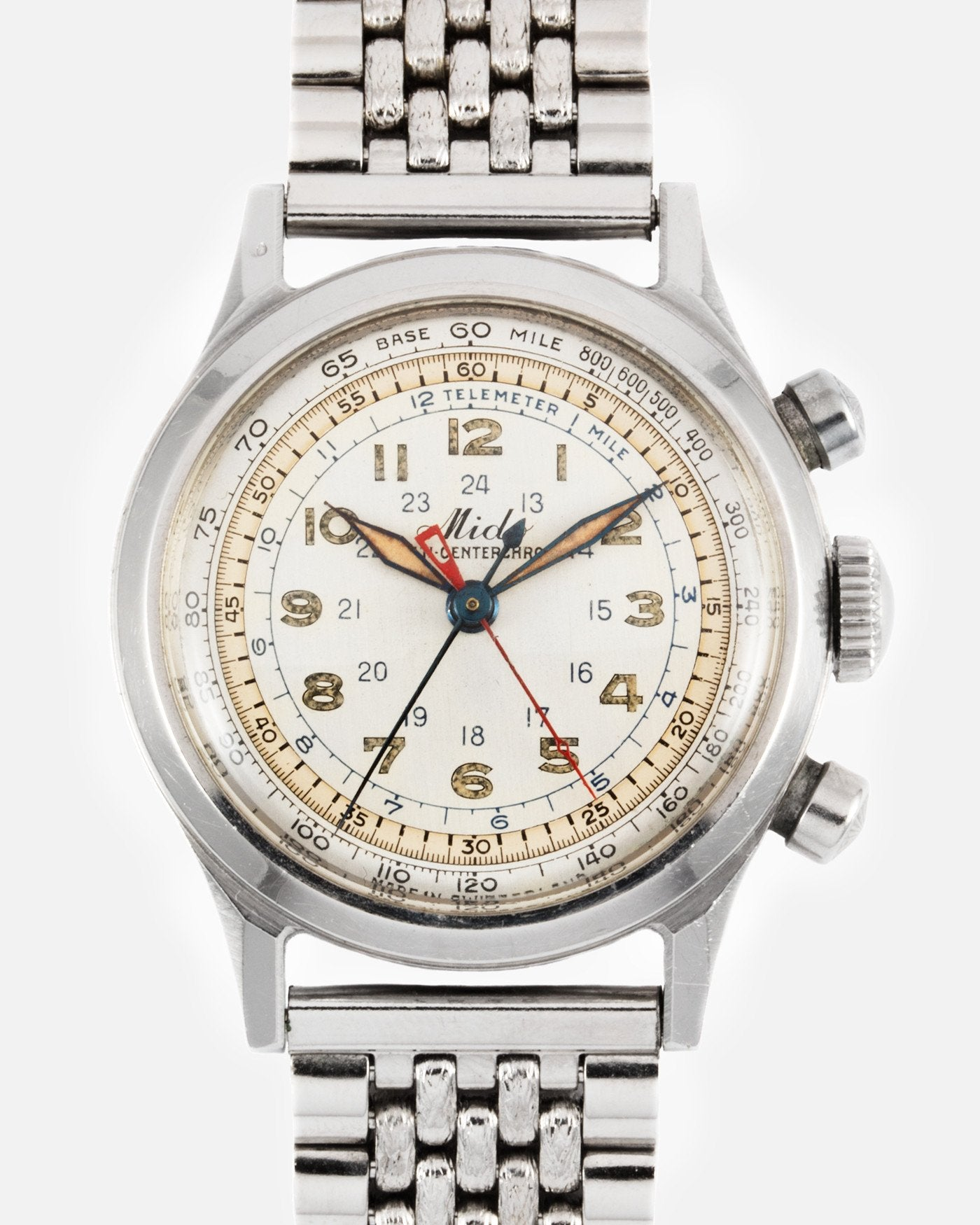 Mido Micro Centrechrono chronograph with a borgel water proof case for A Collected Man London