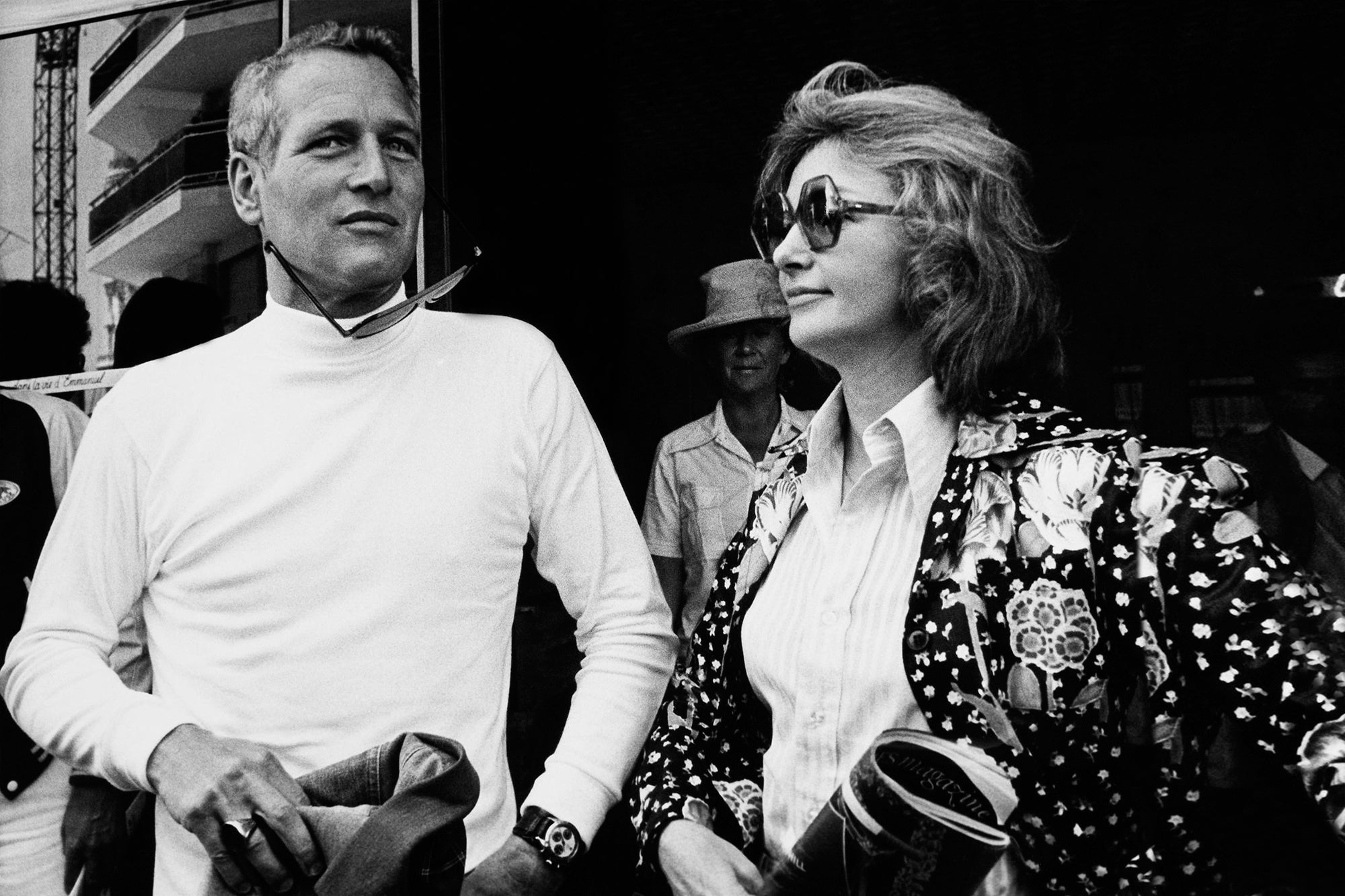 Paul Newman wearing the Rolex Daytona and Joanne Woodward at the 1973 Cannes Film Festival