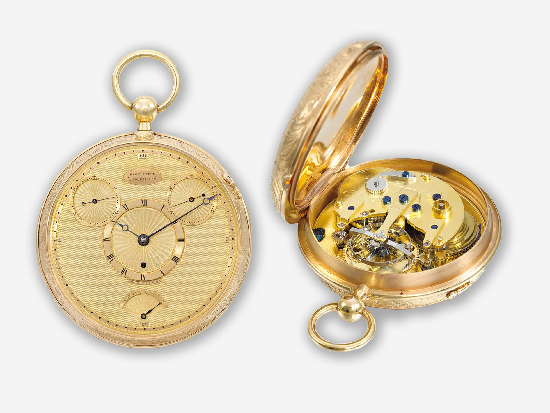 Abraham-Louis Breguet No 1176 with tourbillon and natural escapement