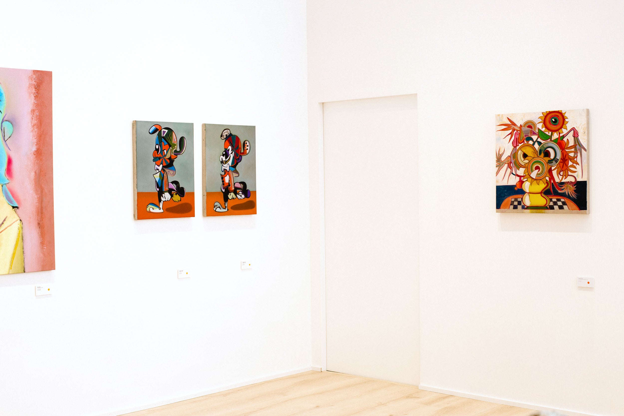 Corner of gallery in Obsessions: Contemporary Culture with Kevin Poon for A Collected Man London
