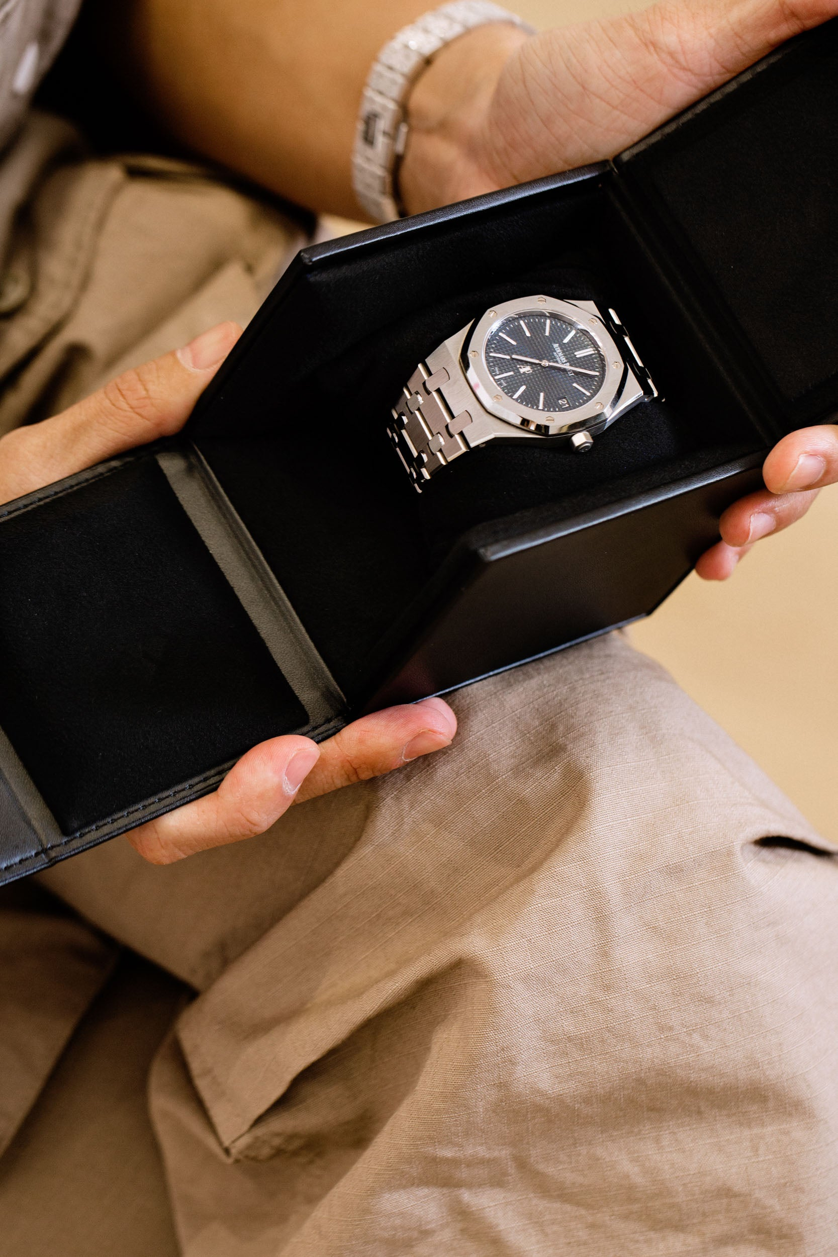 Audemars Piguet Royal Oak ref. 15202 owned by Kevin Poon in Obsessions Contemporary Culture with Kevin Poon for A Collected Man London