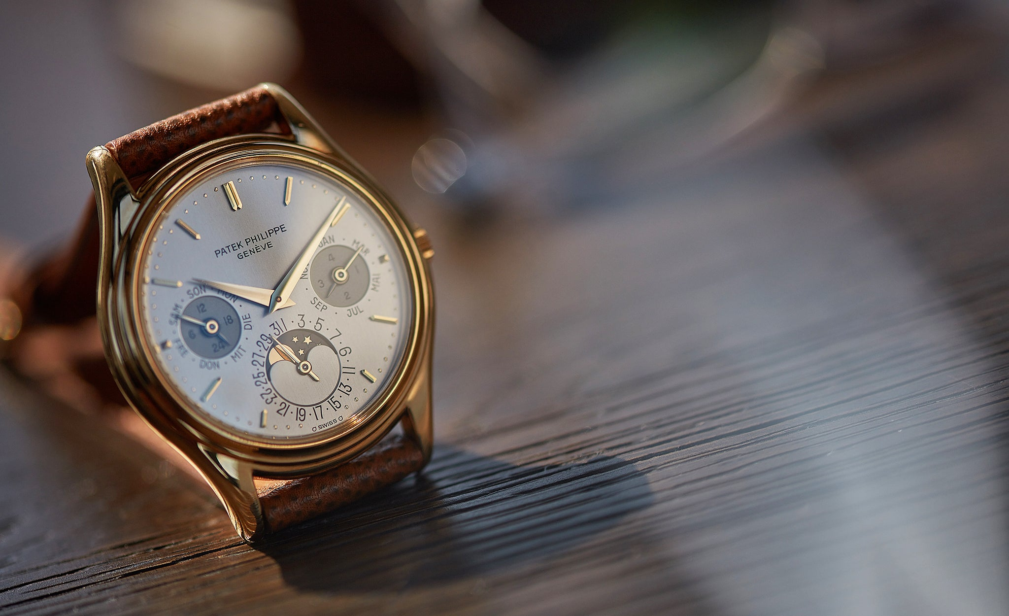 Patek Philippe 3940 in yellow gold shot by A Collected Man London