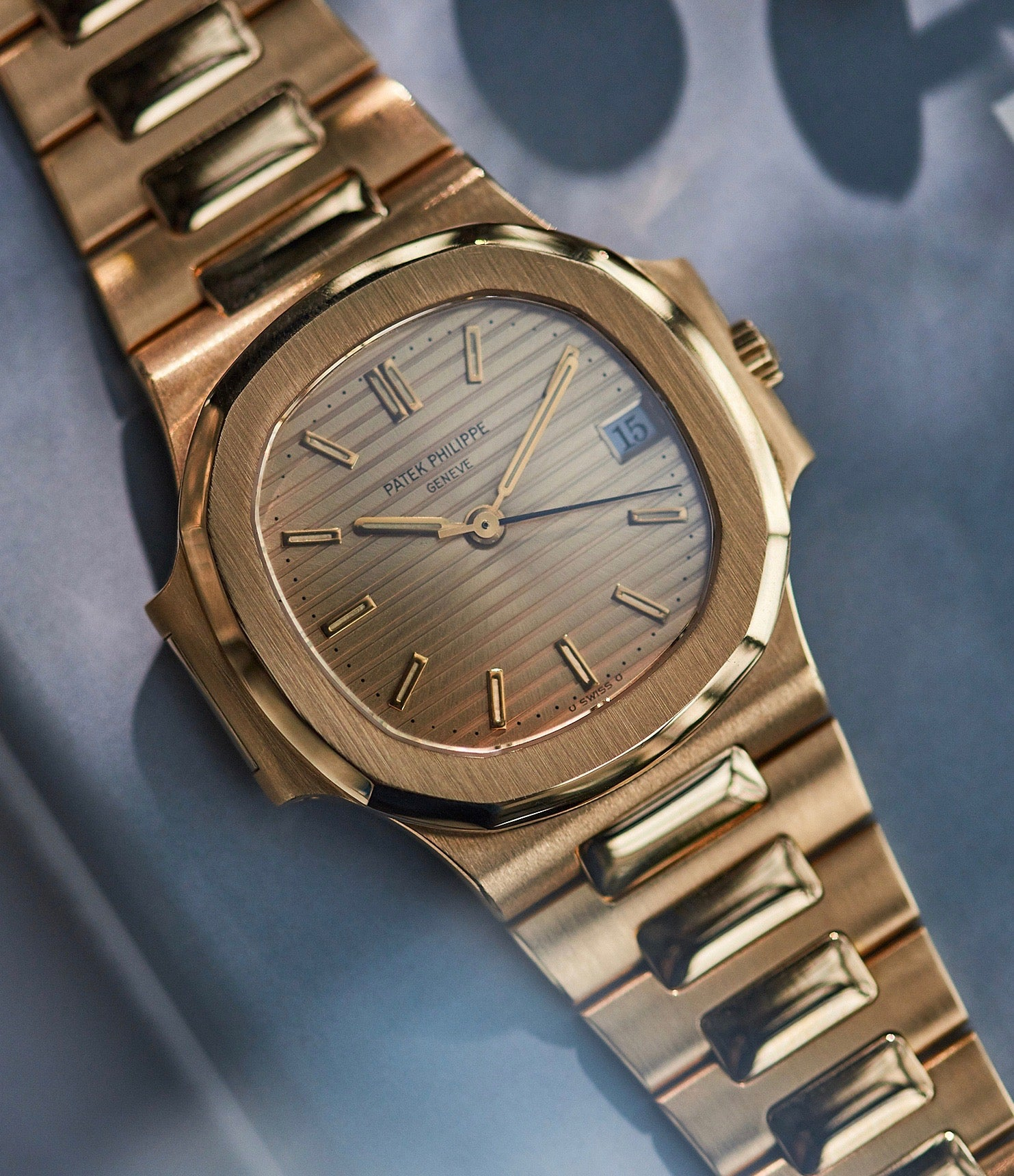 Patek Philippe Nautilus 3800 in yellow gold with gold dial from A Collected Man London