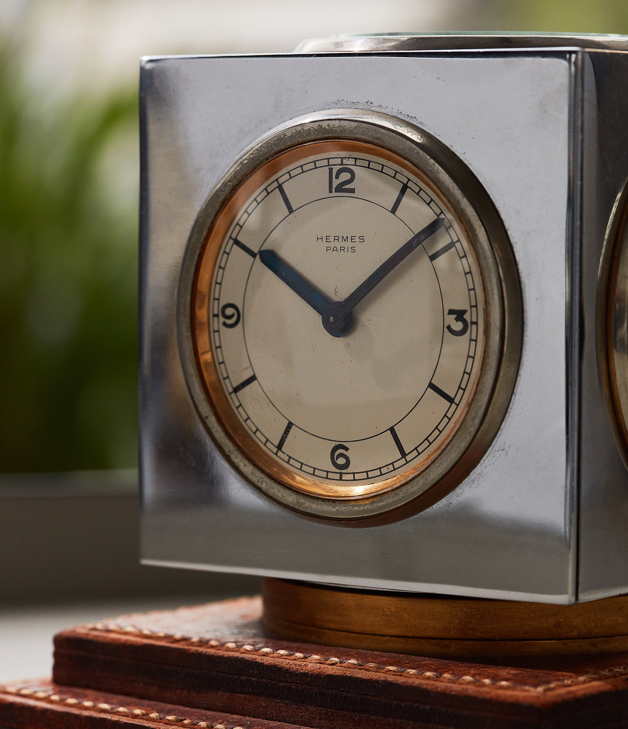 Hermes compendium desk clock in How Paul Dupré-Lafon Became 'The Decorator of Millionaires' for A Collected Man London