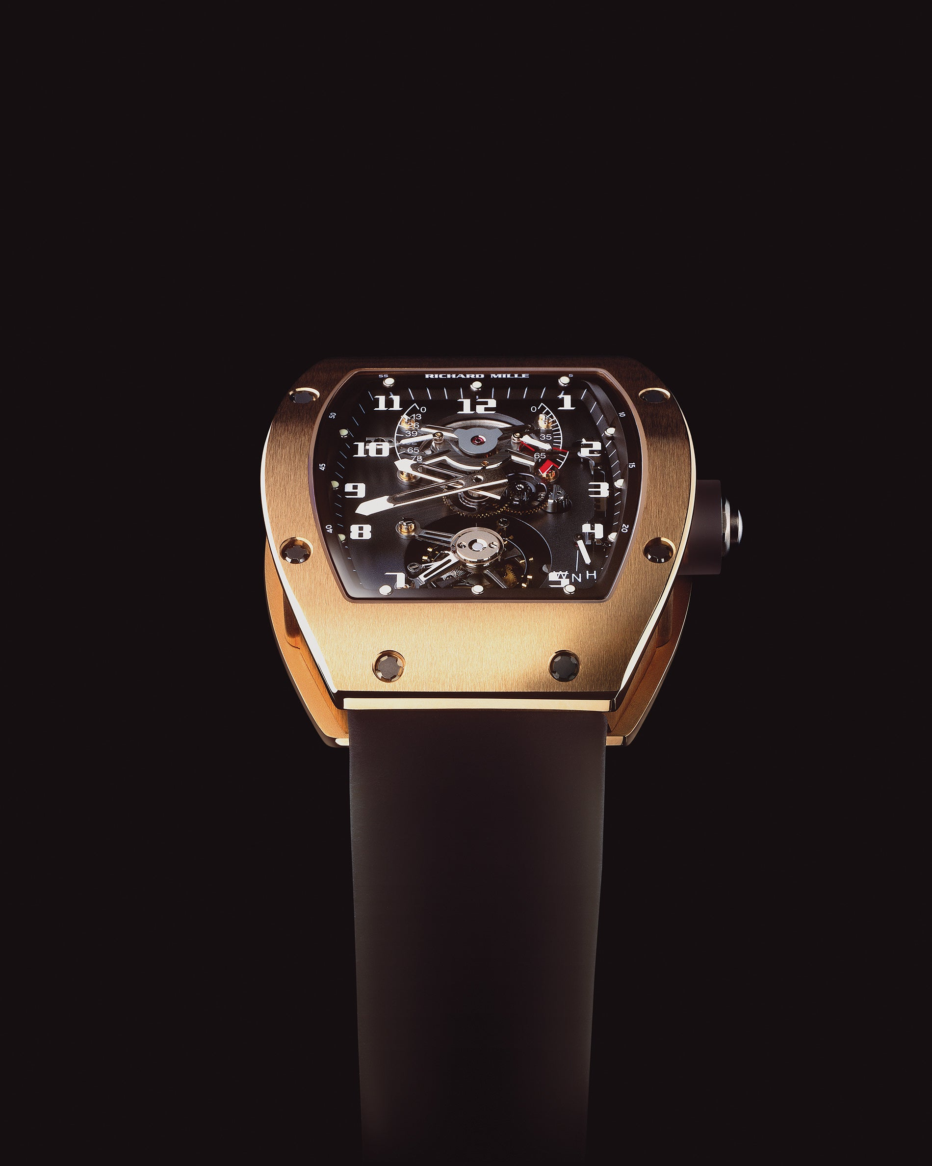 Richard Mille RM001 in rose gold at an angle for A Collected Man London