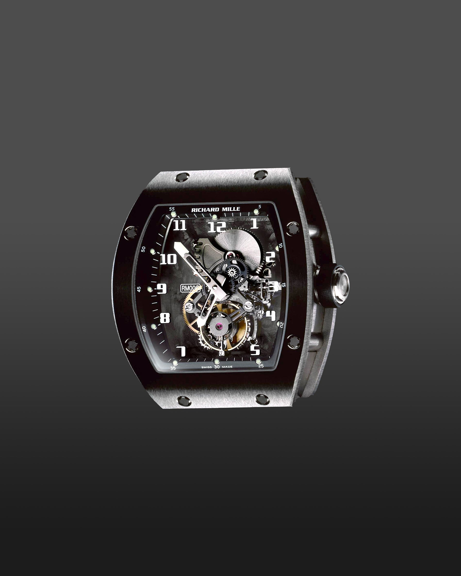 Richard Mille RM006 with the carbon fibre nanotube base plate and titanium case for A Collected Man London