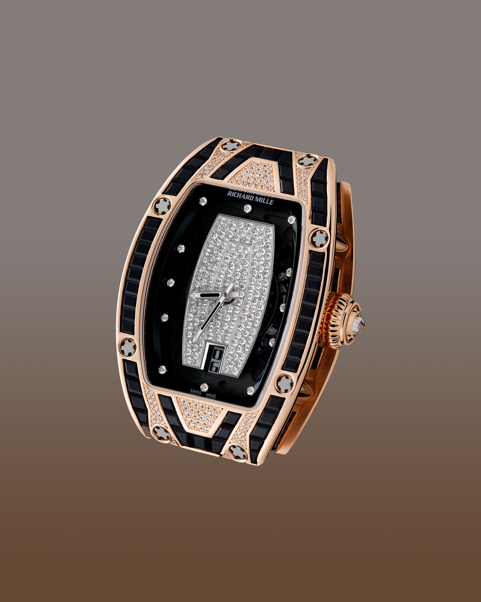 Richard Mille RM007 ladies watch automatic in rose gold set with diamond for A Collected Man London