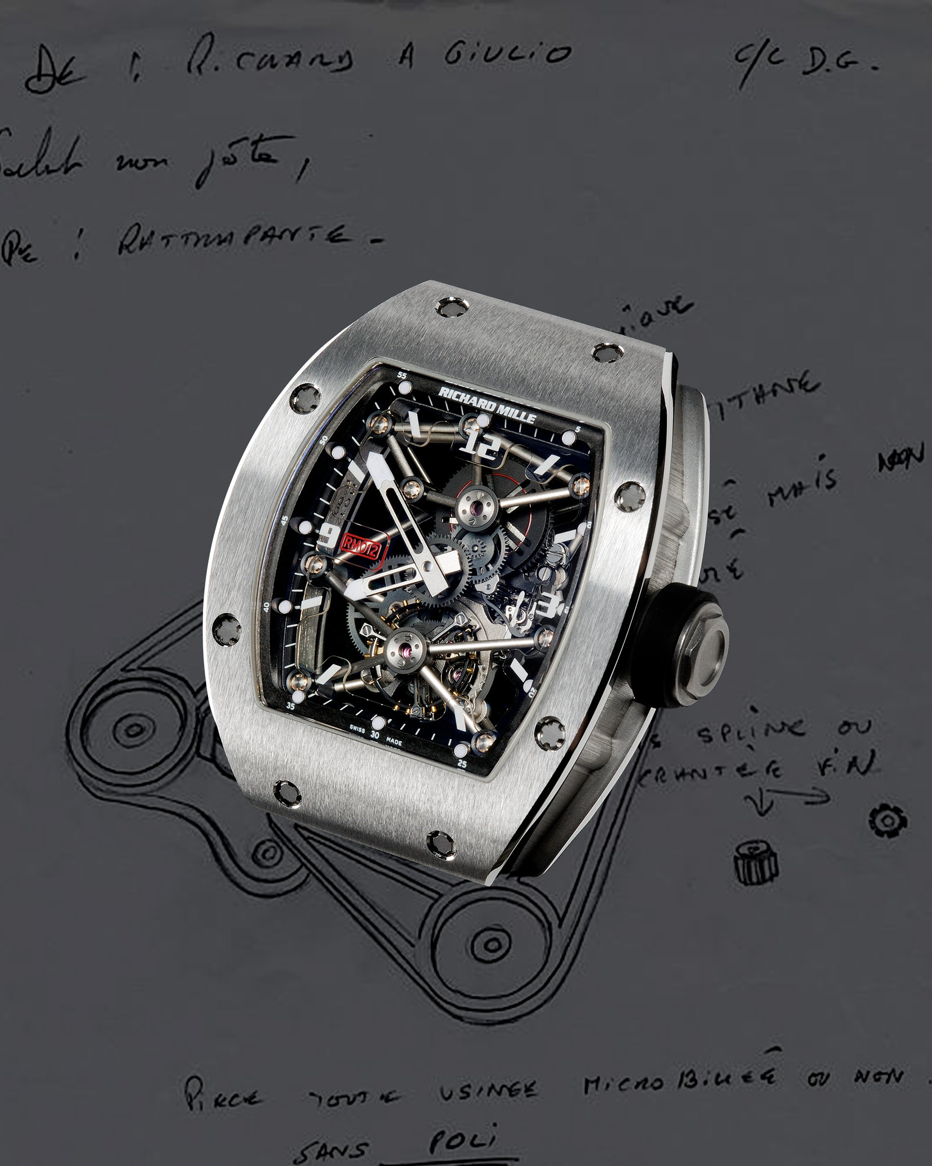 Richard Mille RM012 with Phyrox tube structure holding movement in place for A Collected Man London
