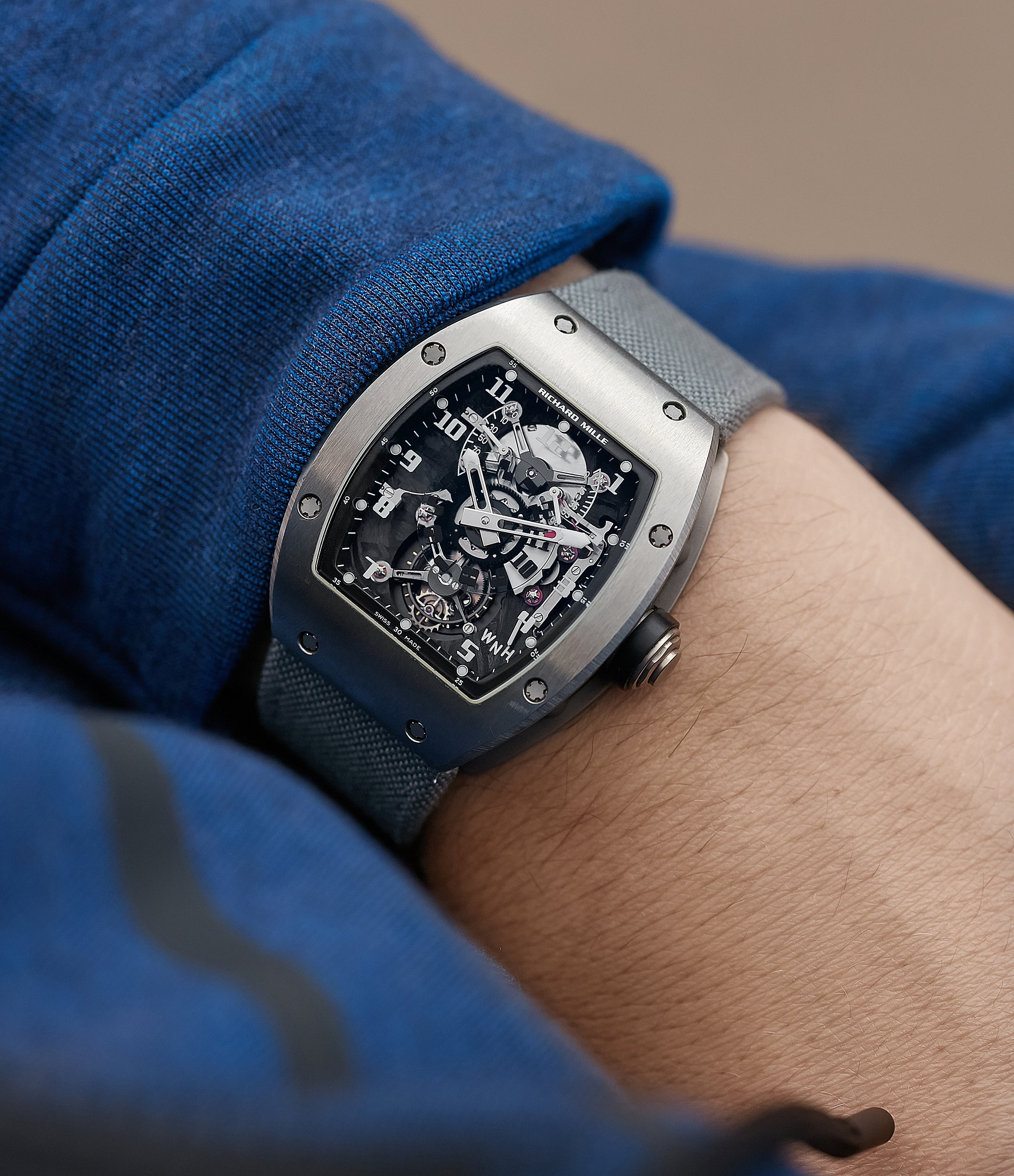 Richard Mille RM003 wrist shot in titanium for the disruptive world of early Richard Mille for A Collected Man Lonodn