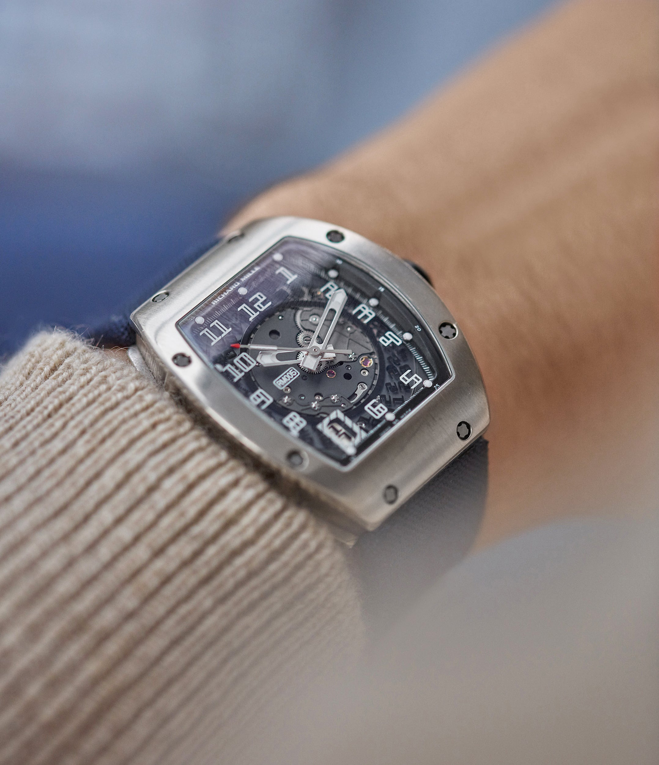 Richard Mille RM005 wrist shot for the disruptive world of early Richard Mille for A Collected Man London