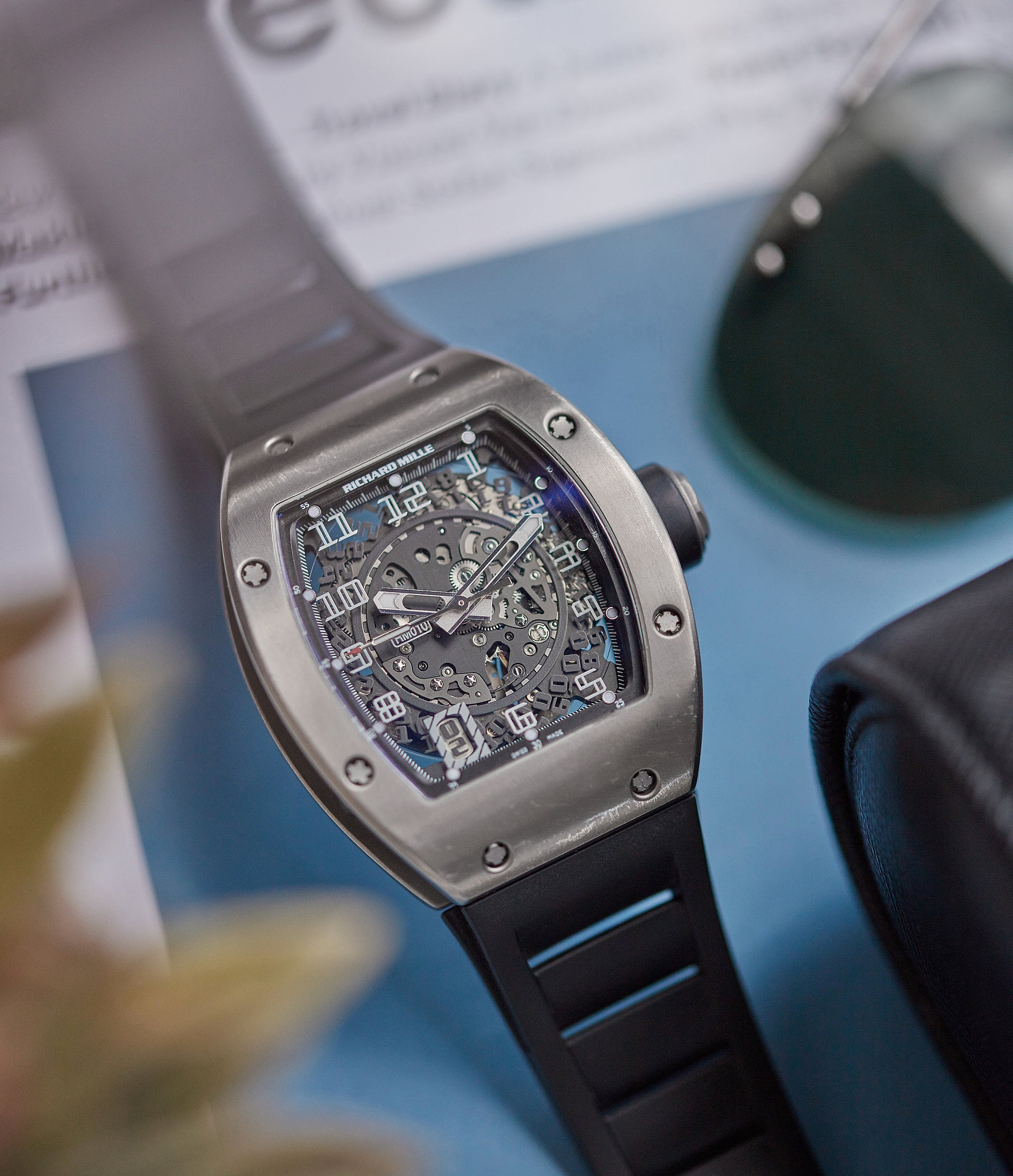 Richard Mille RM010 automatic in titanium for the disruptive world of early Richard Mille for A Collected Man London