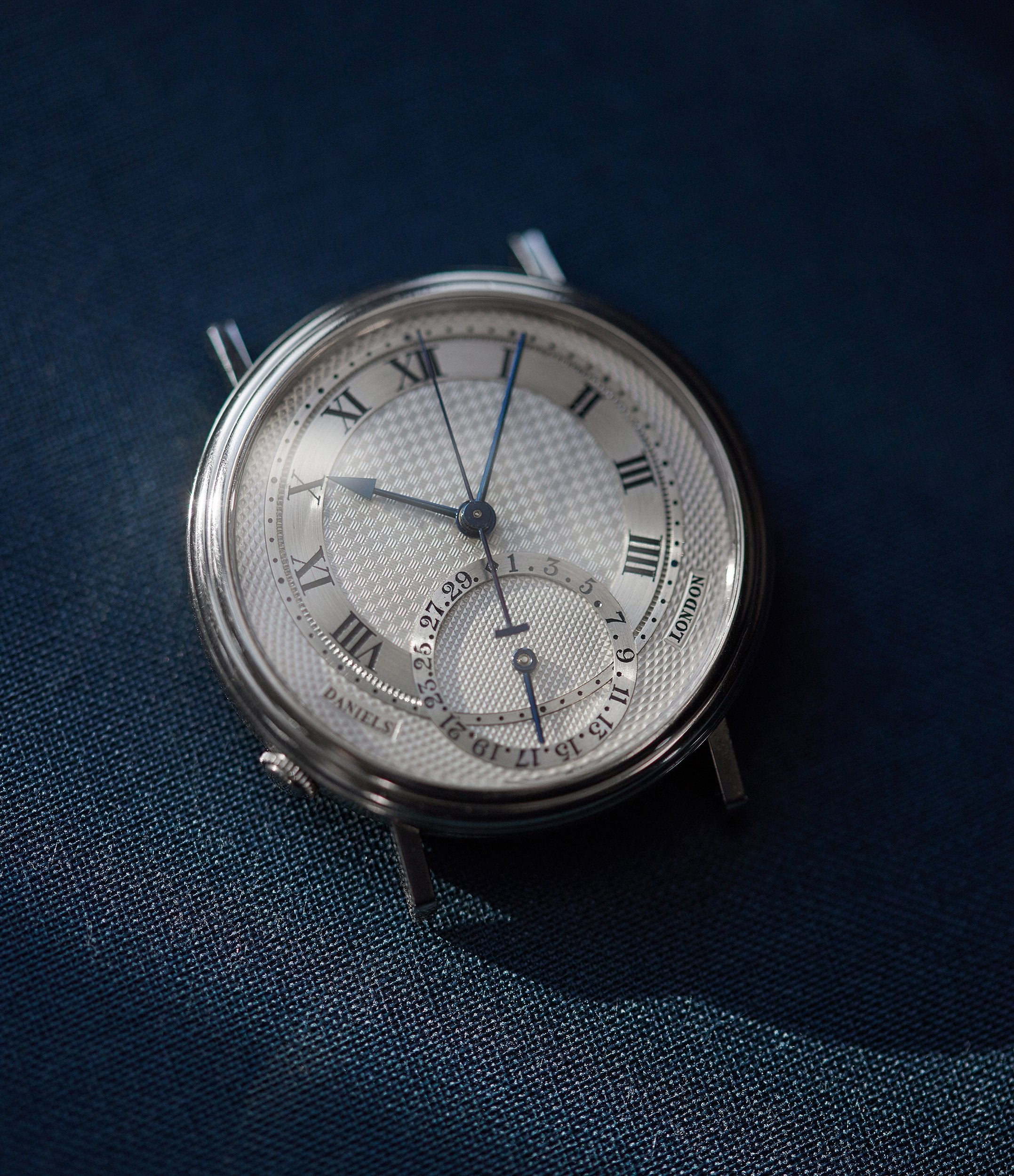 Daniels Millennium in white gold made by Roger W. Smith for A Collected Man London