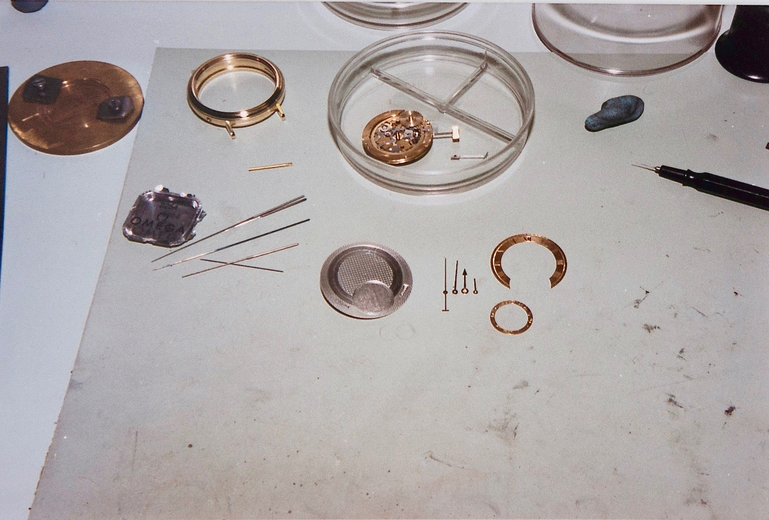 Daniels Millennium wristwatch mid-construction on the Isle of Man for A Collected Man London