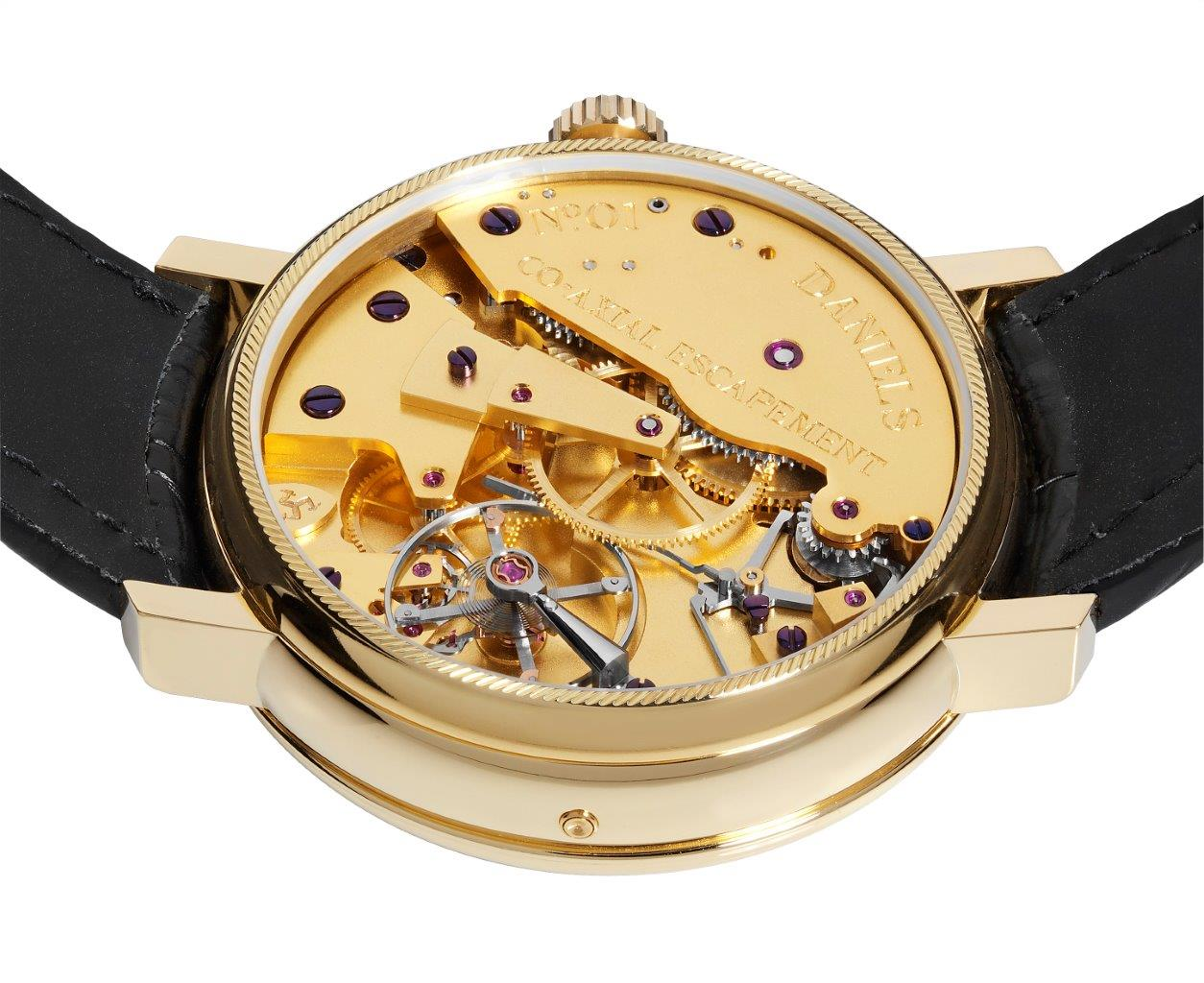 Daniels Anniversary watch movement made by Roger Smith for A Collected Man London
