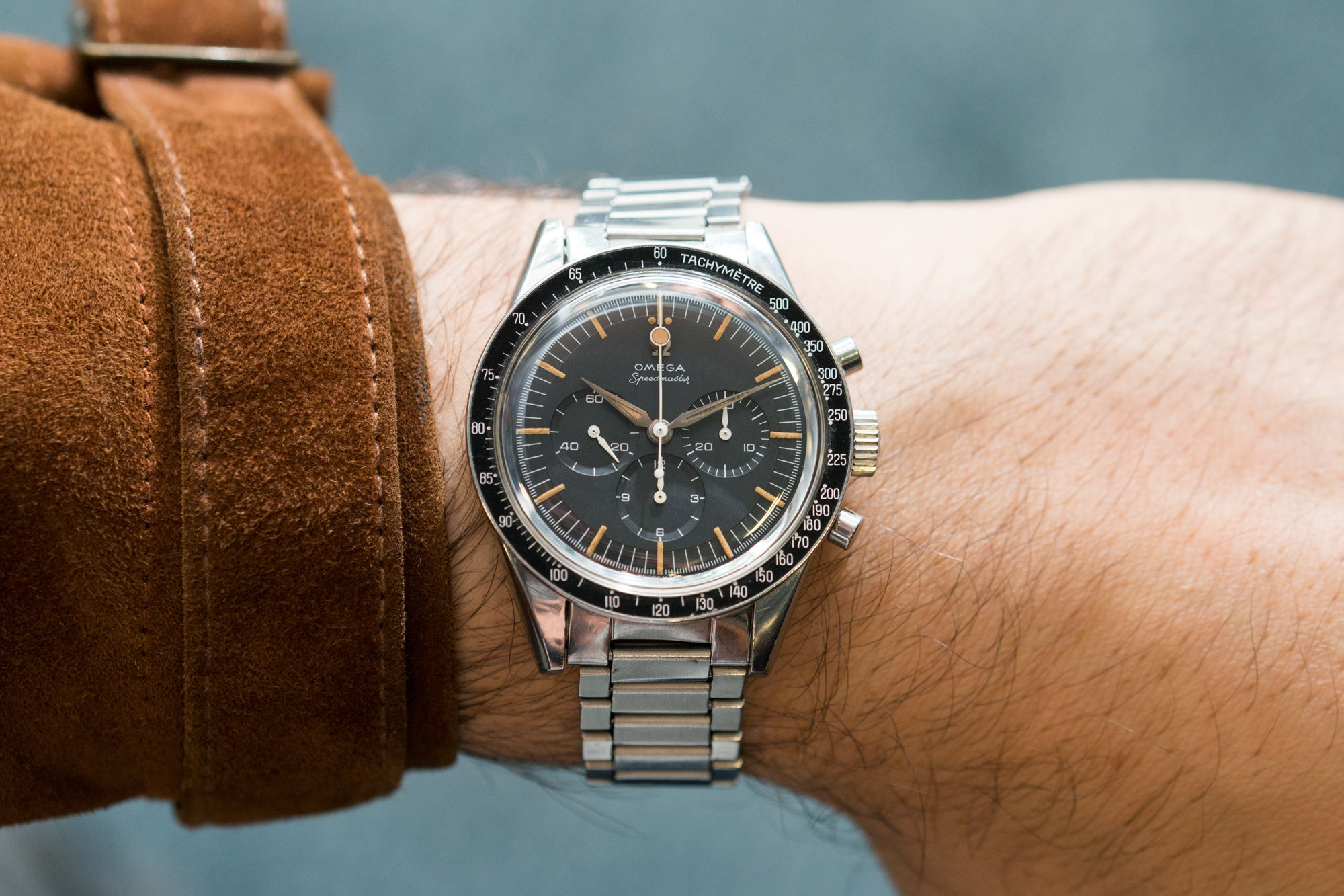 Omega Speedmaster Ref. CK 2998-3 circa 1961 at A Collected Man London by Sacha Davidoff