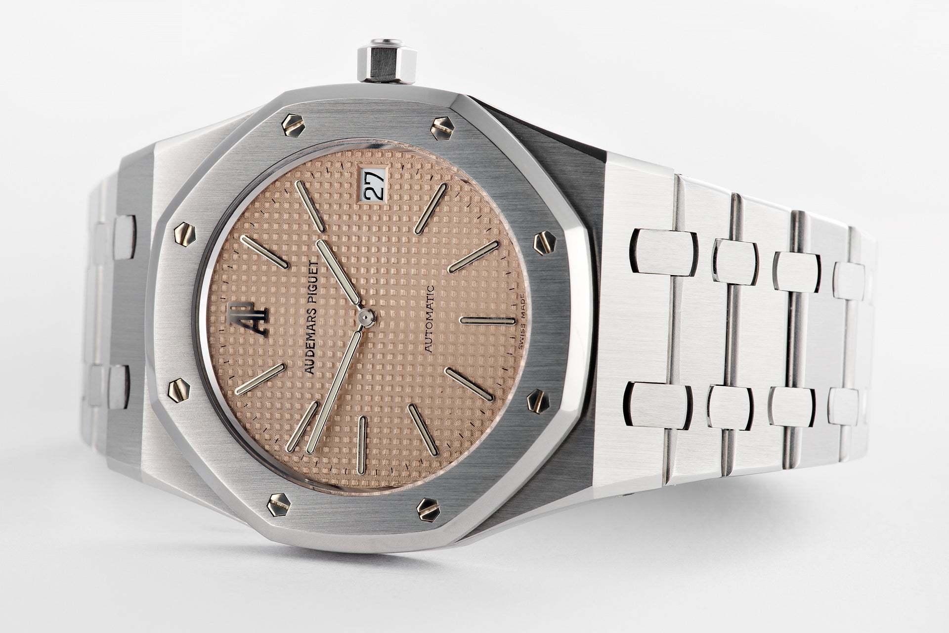 Audemars Piguet Royal Oak 14802 jubilee with the rare salmon dial for A Collected Man Lodnon