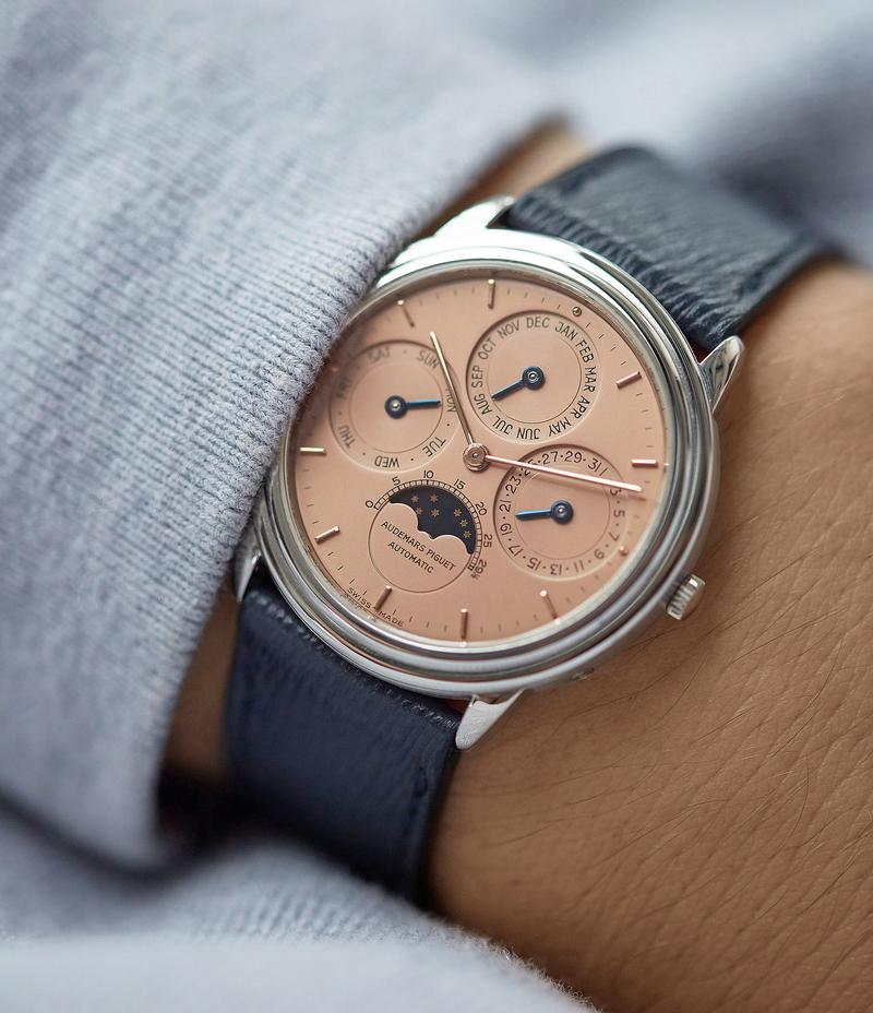 Audemars Piguet QP perpetual calendar with a salmon dial for A Collected Man London