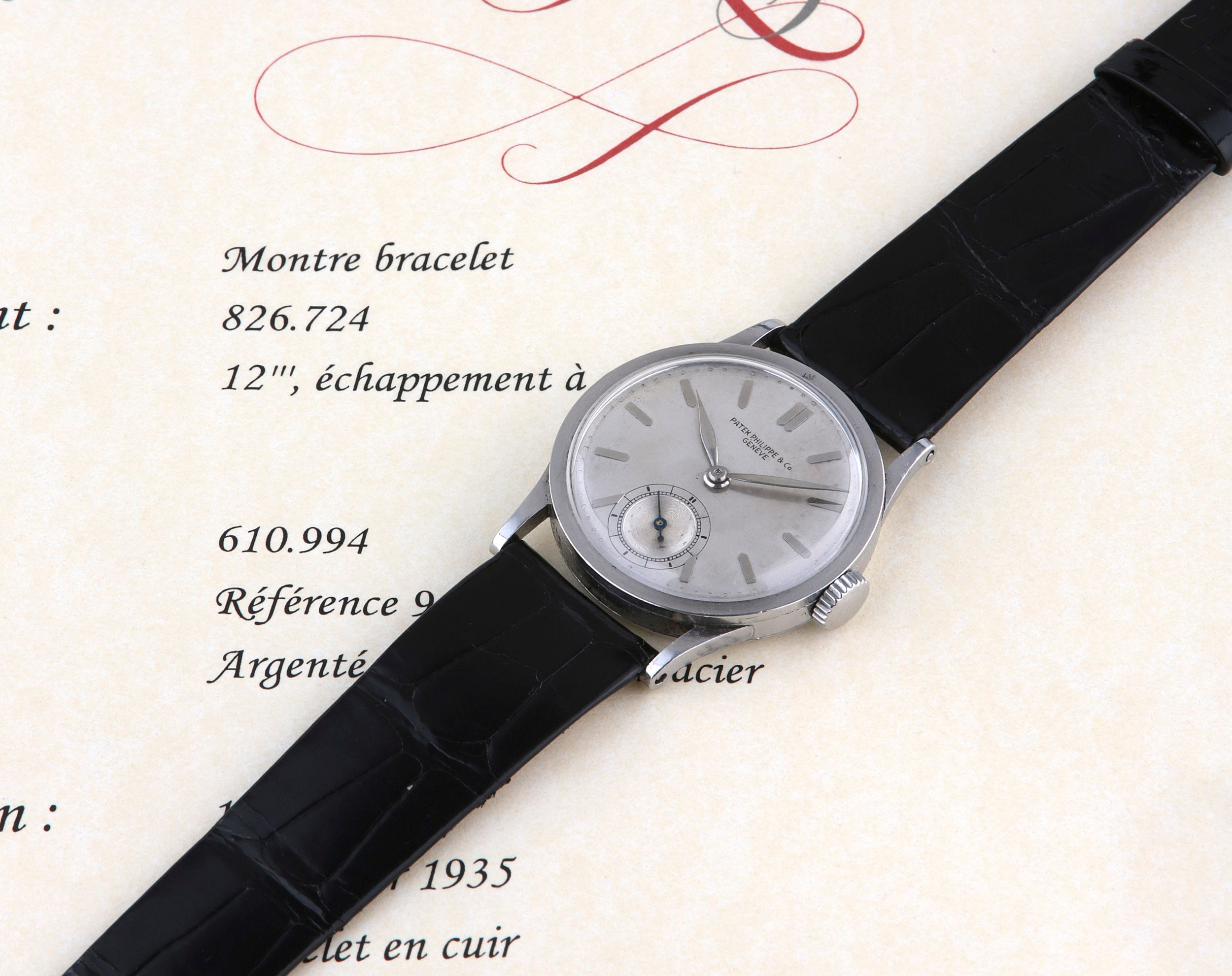 Patek Philippe Calatrava ref. 96 on extract from the archives with blazed lugs for A Collected Man London