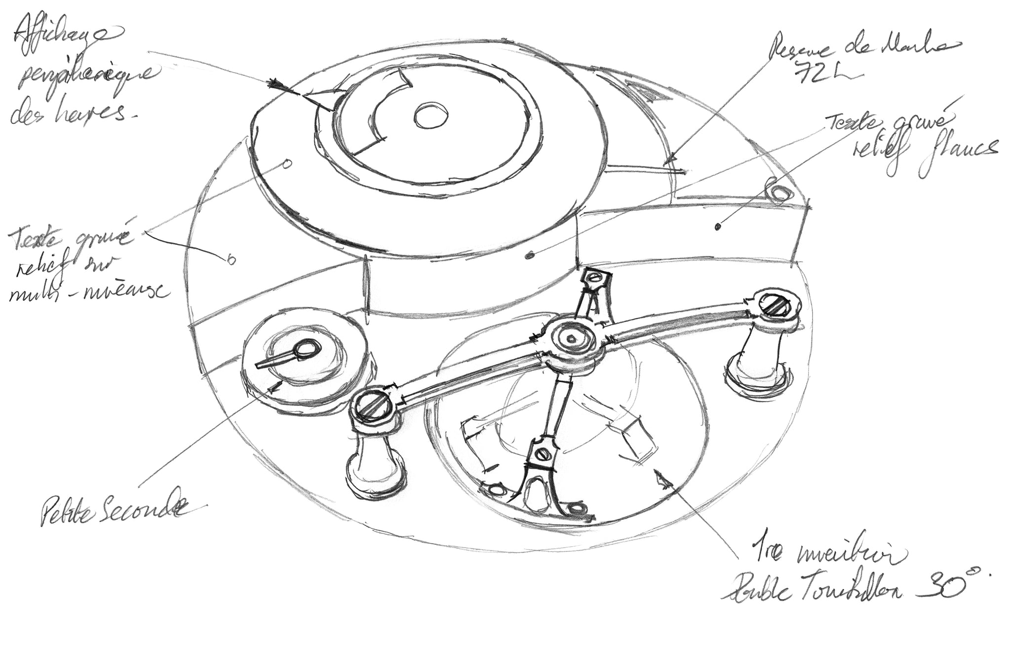 Greubel Forsey sketch of their Art Piece Edition Historique