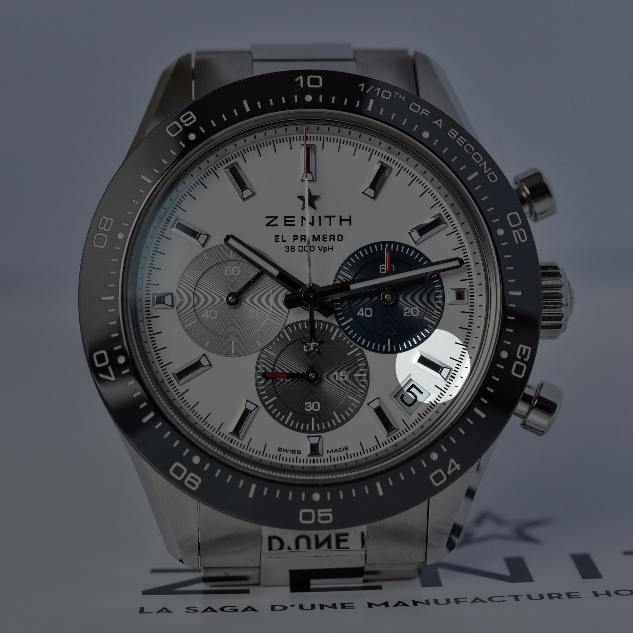 Zenith Chronomaster Sport El Primero error dial inverted hour marker from Monochrome for A Collected Man London