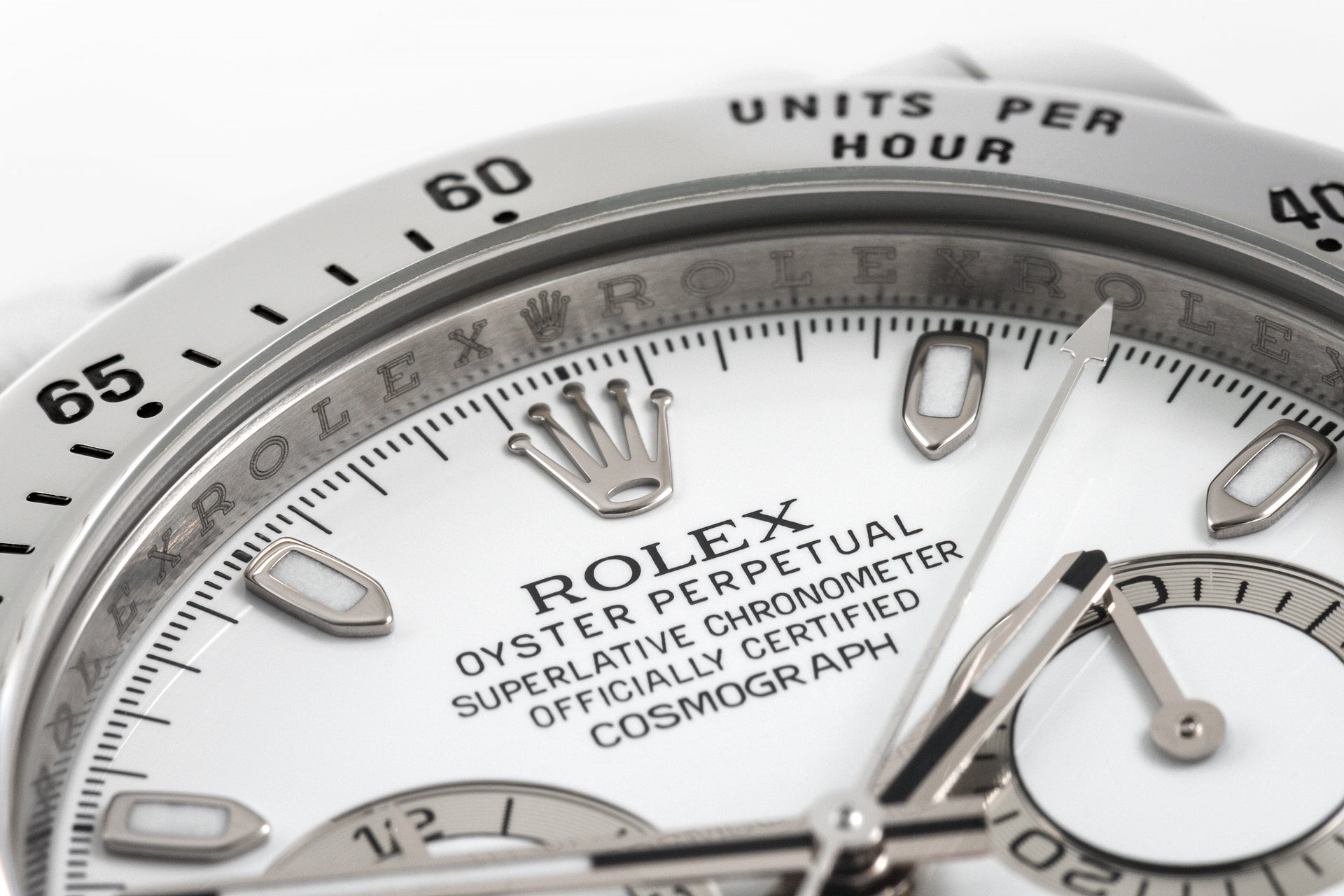 Rolex Daytona Cosmograph white dial 'APH' error dial for A Collected Man London
