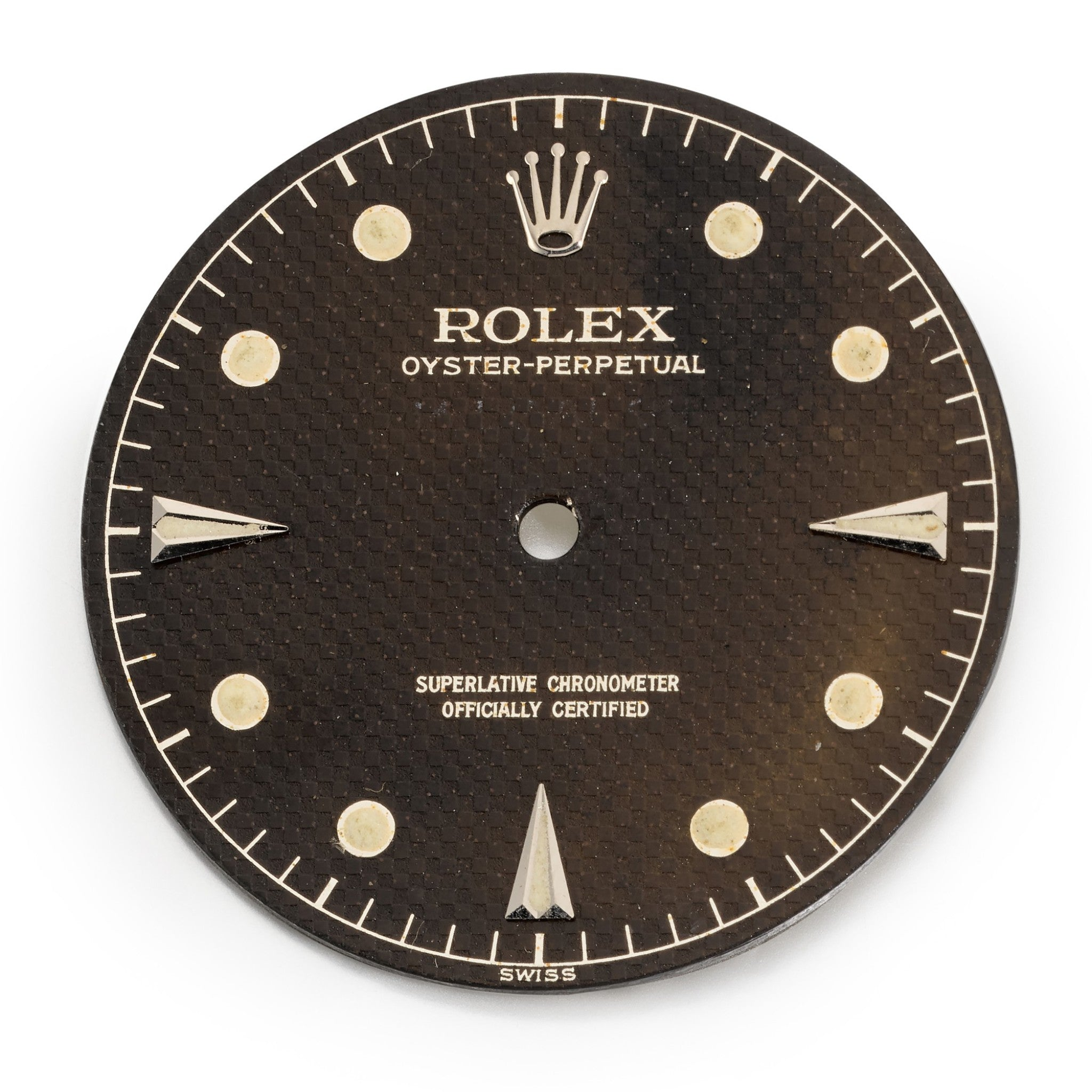 Rolex Milgauss dial out of the case with the Migauss name missing honeycomb dial for A Collected Man London