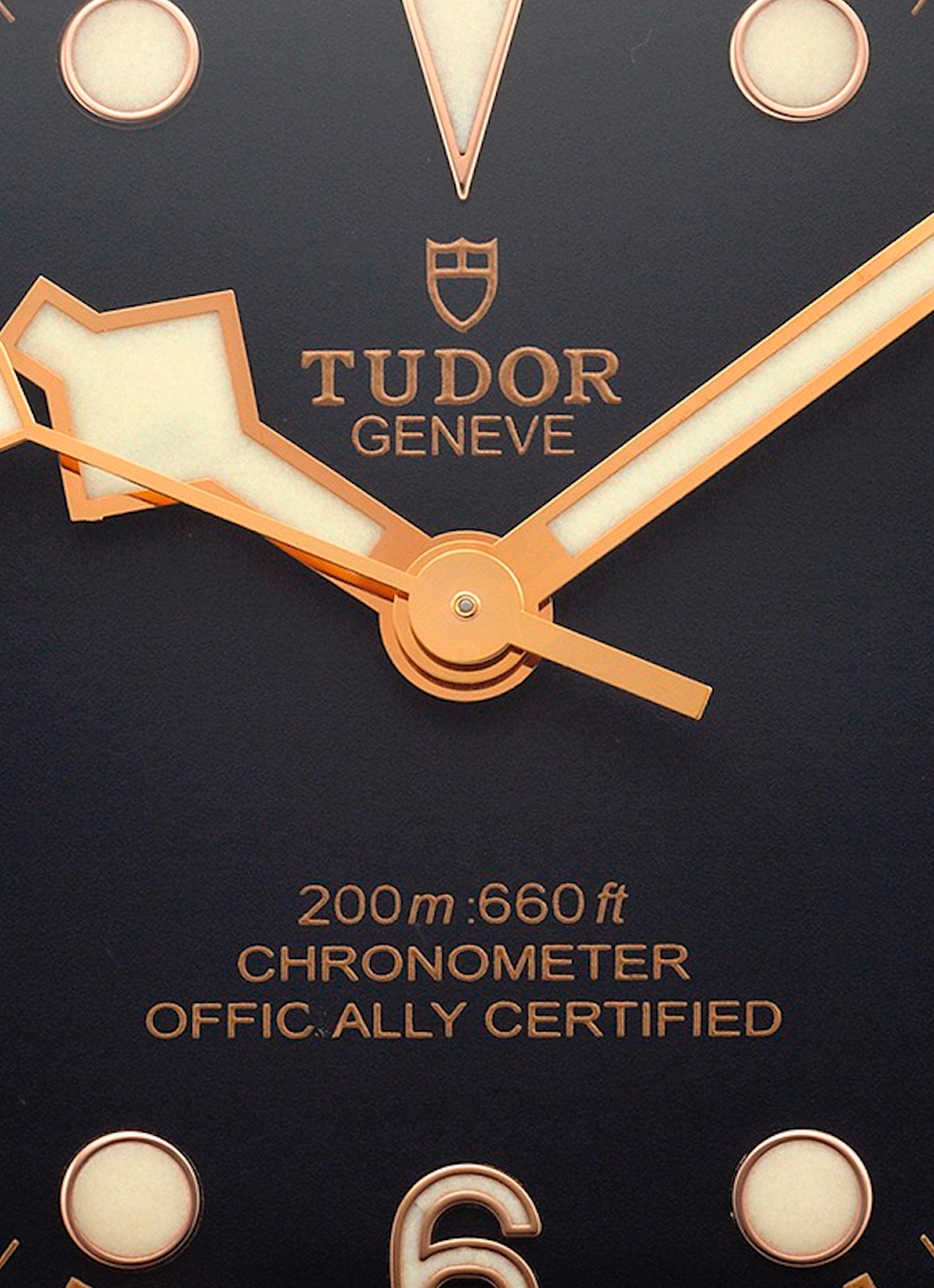 Tudor Black Bay Bronze with an error dial misprint for A Collected Man London