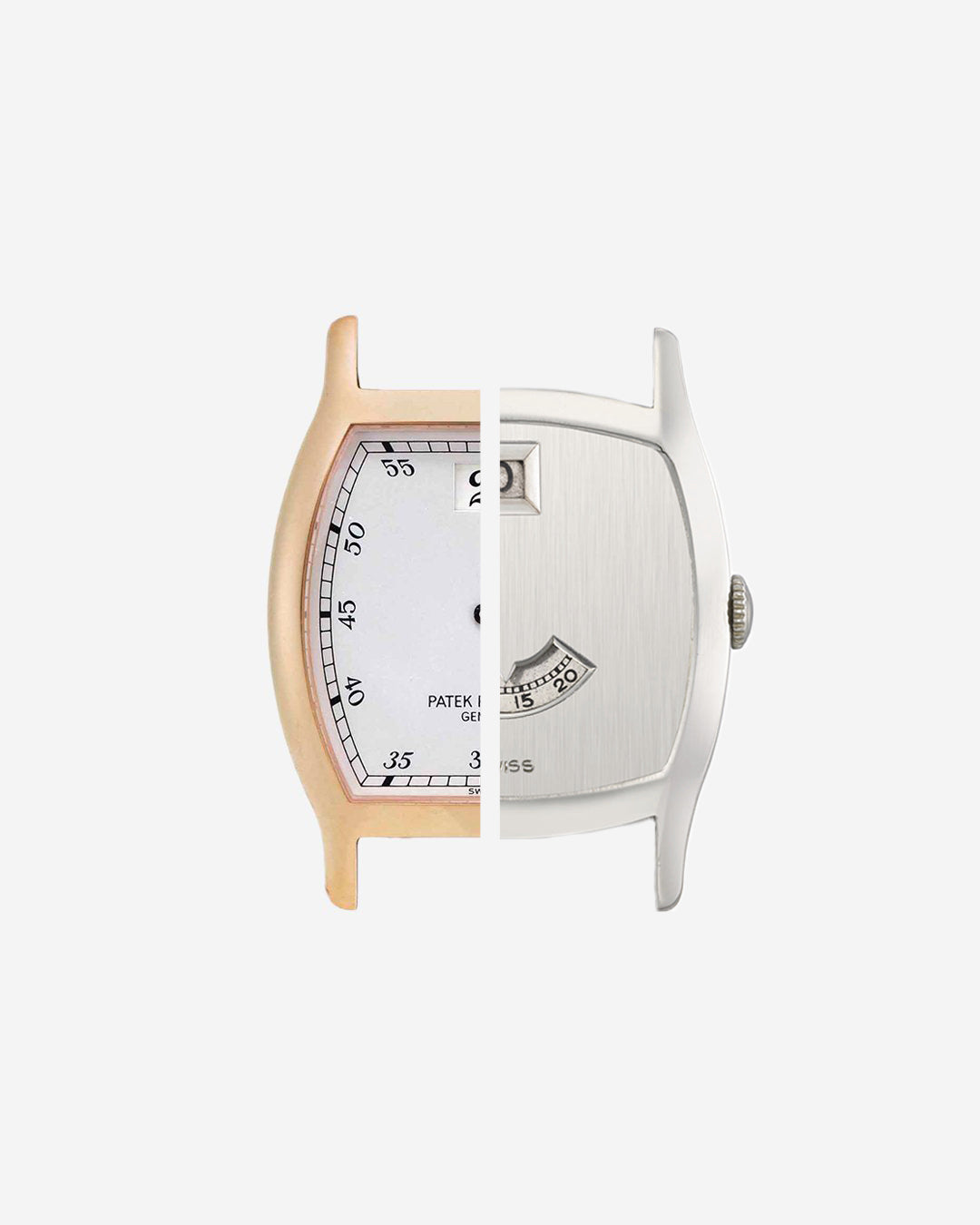 Two jump hour watches cut through in The Balance of Symmetry and Asymmetry in Dial Design for A Collected Man London