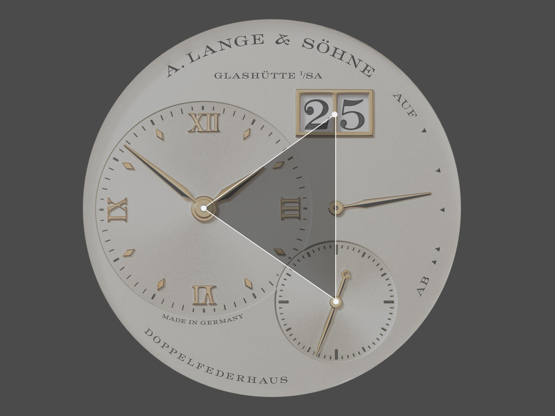 A. Lange & Sohne Lange 1 diagram in The Balance of Symmetry and Asymmetry in Dial Design for A Collected Man London