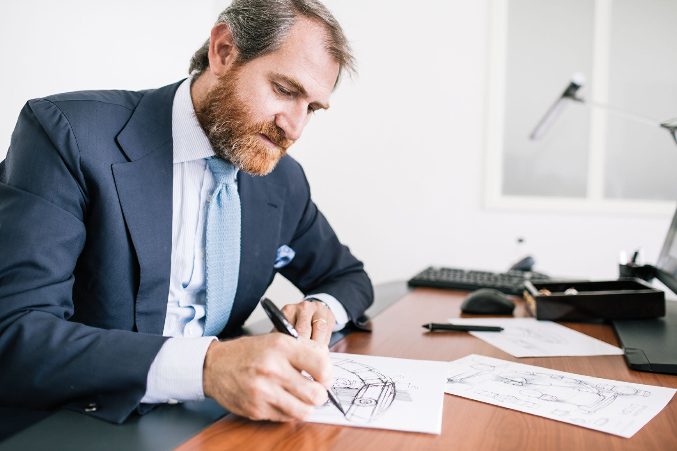 Fabrizio Buonamassa Stigliani drawing in The Balance of Symmetry and Asymmetry in Dial Design for A Collected Man London
